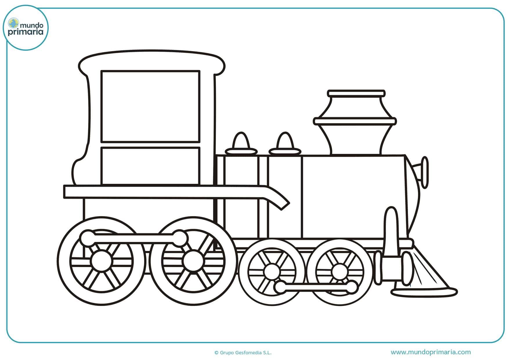 dibujos infantiles de trenes para colorear