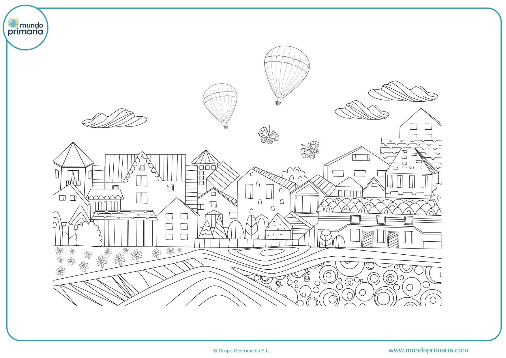 dibujos de interiores de casas para colorear
