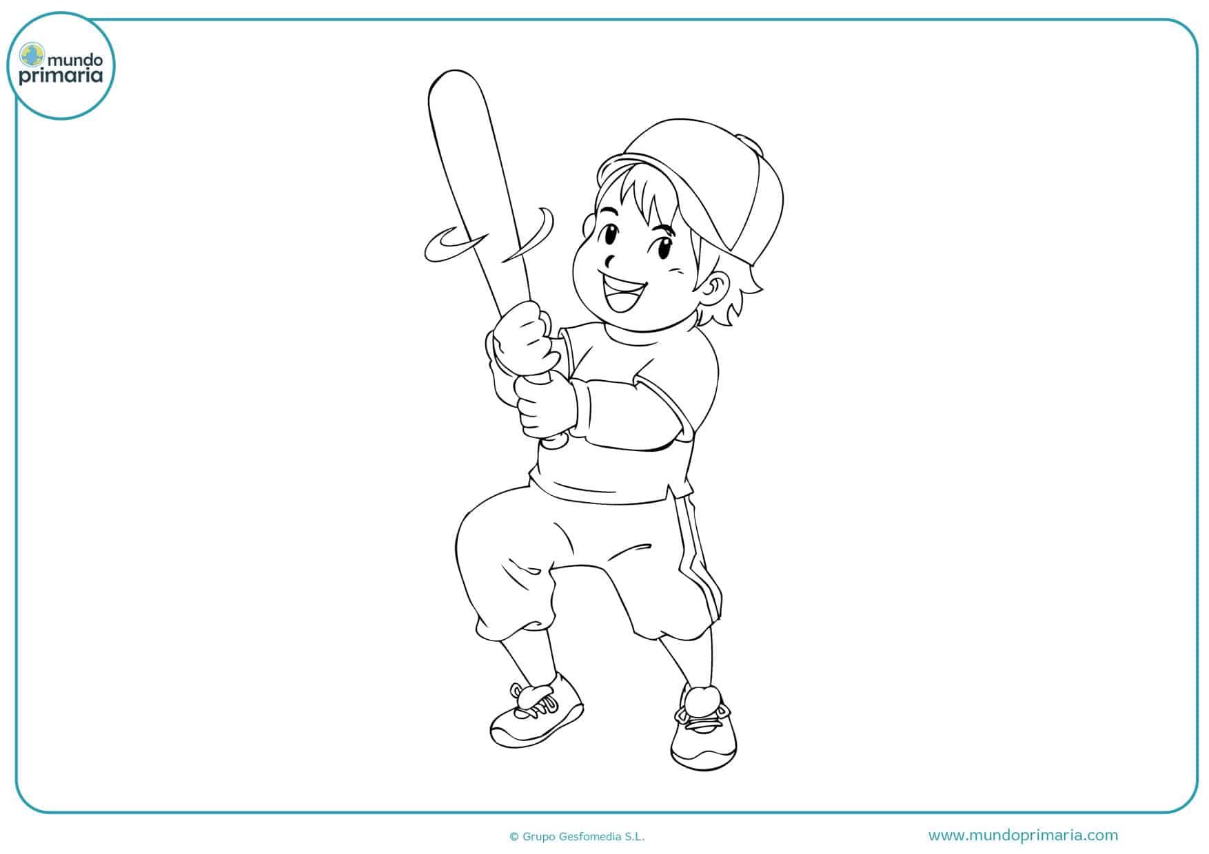 dibujos de jugadores de béisbol para colorear