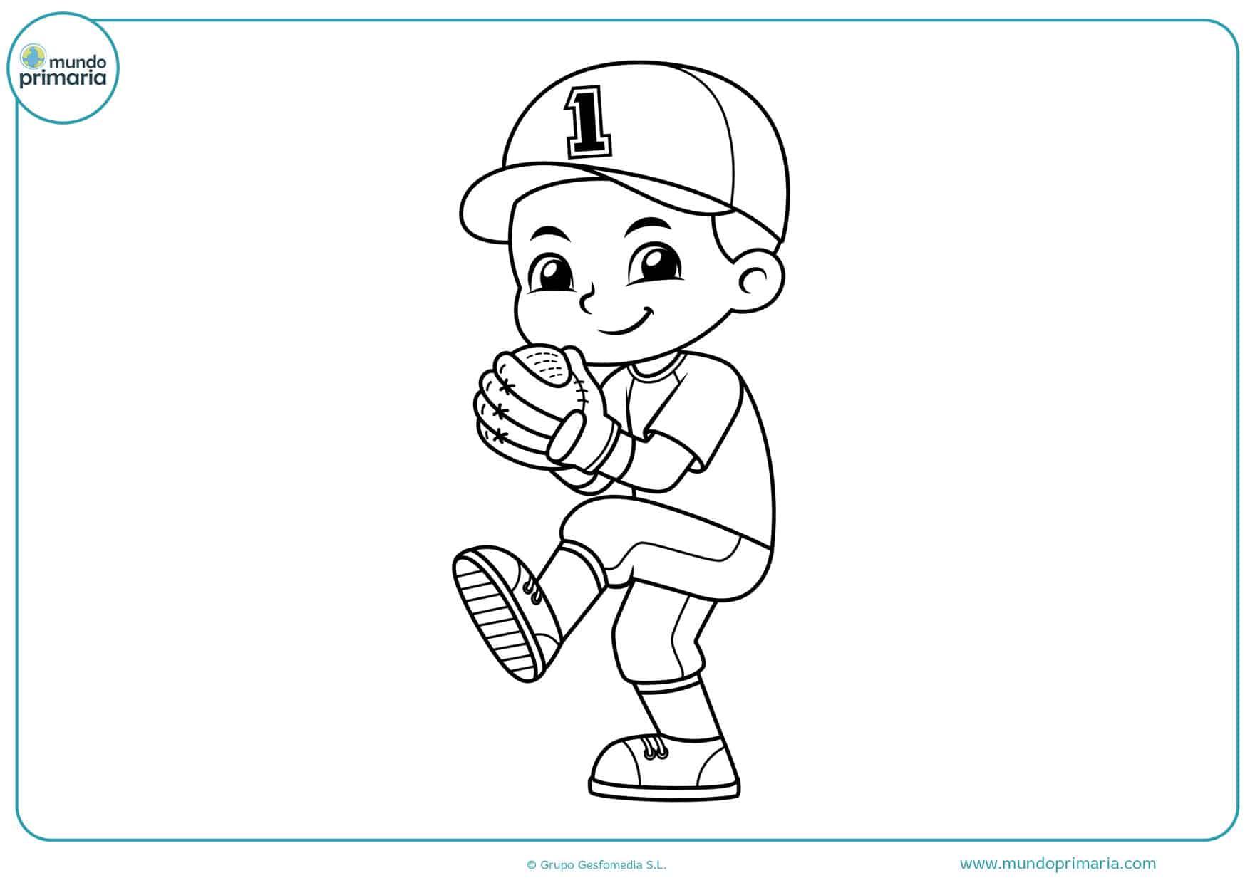 dibujos a lápiz de béisbol para colorear
