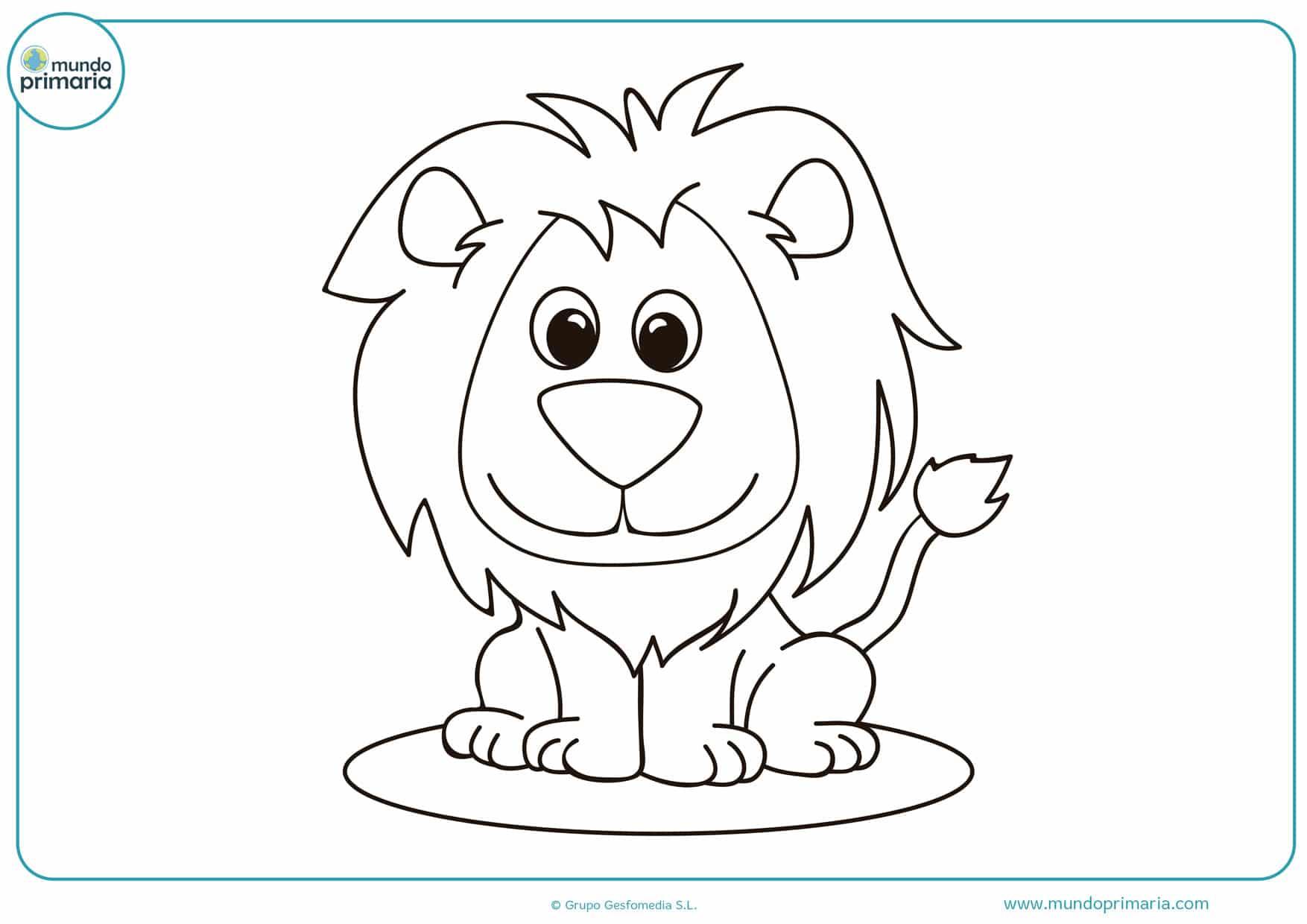 dibujos de leones de circo para colorear