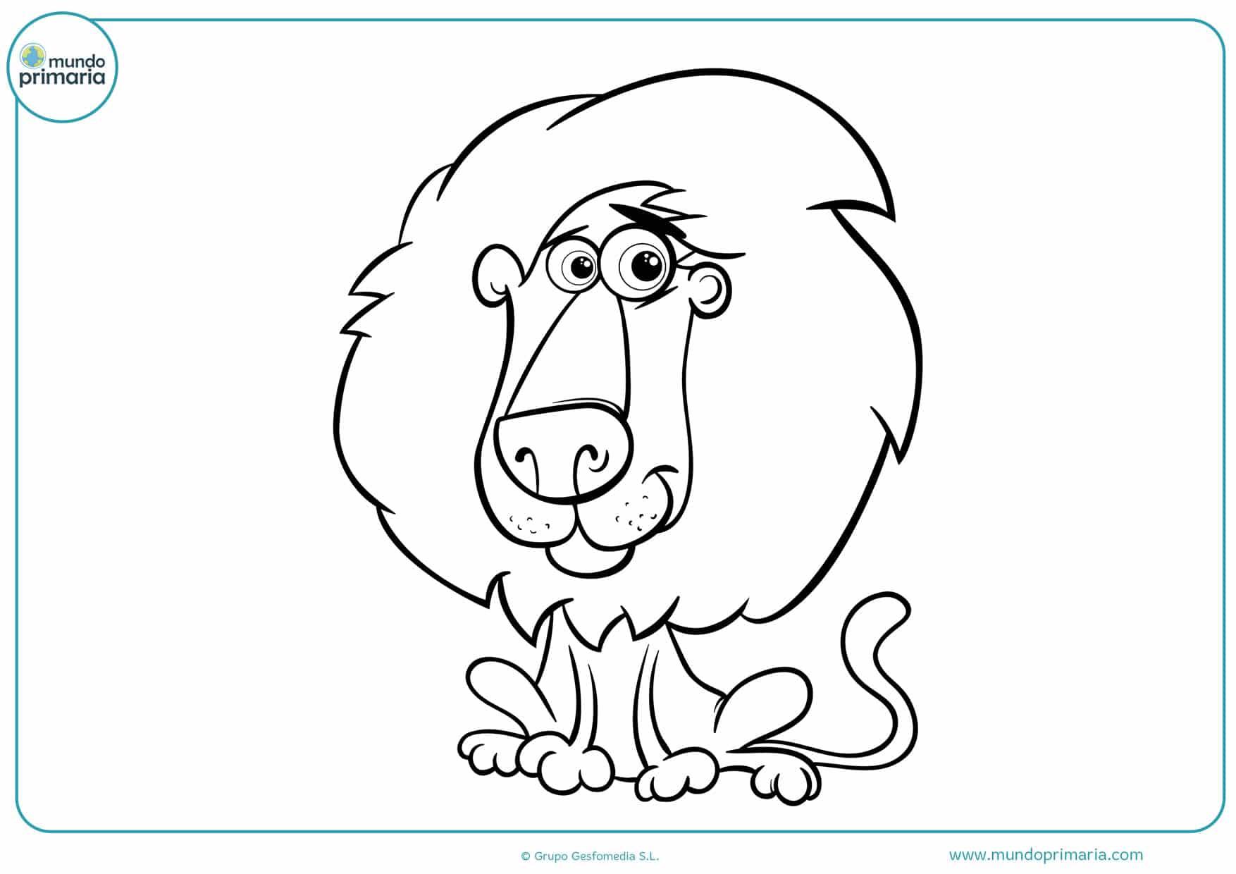 dibujos de leones para colorear e imprimir