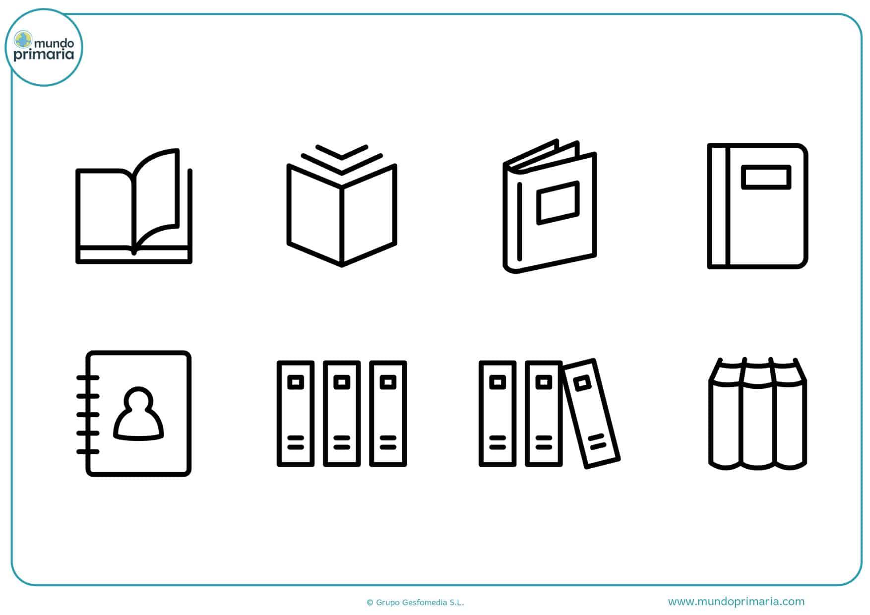 dibujos de libros abiertos para colorear
