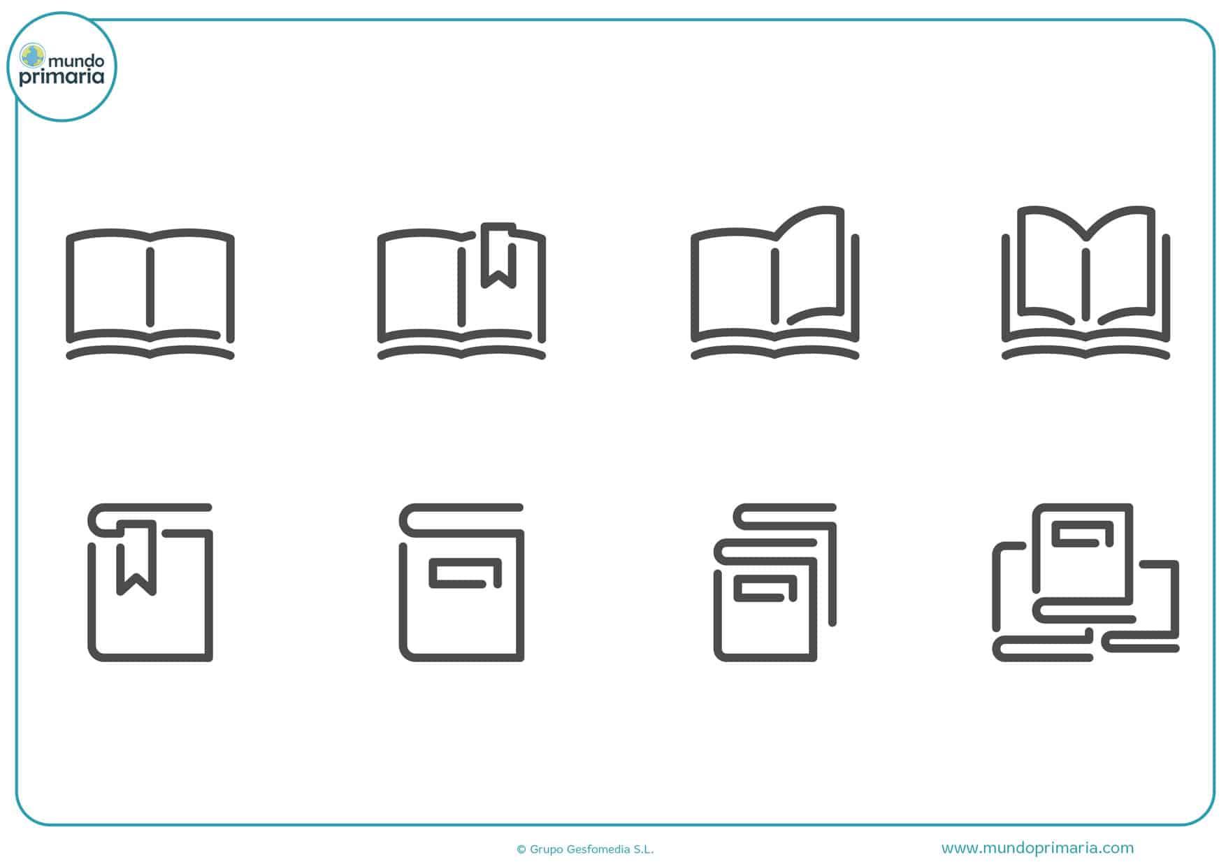 dibujos de libros para colorear abiertos