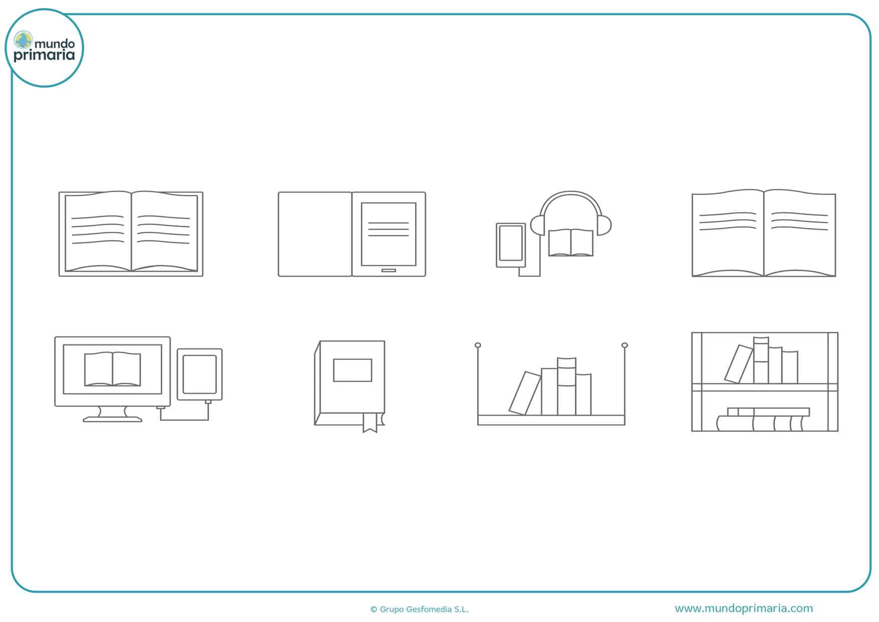 dibujos de libros para colorear e imprimir