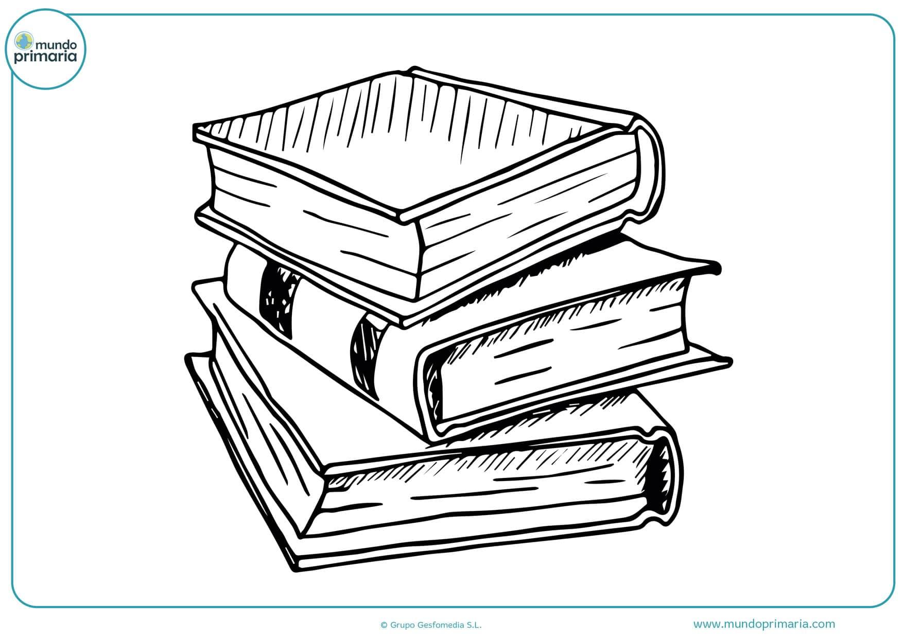 dibujos de libros para colorear para niños
