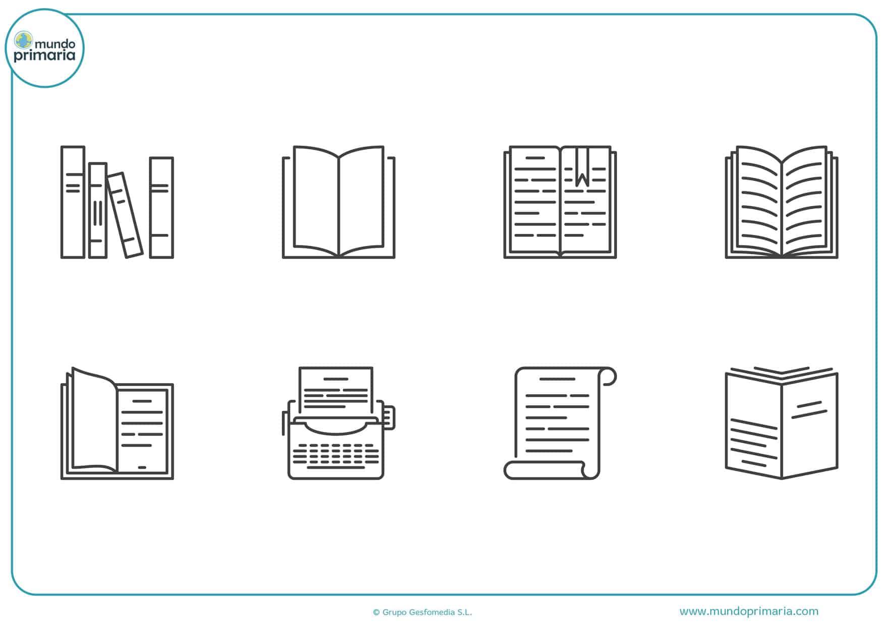 dibujos de libros para imprimir y colorear