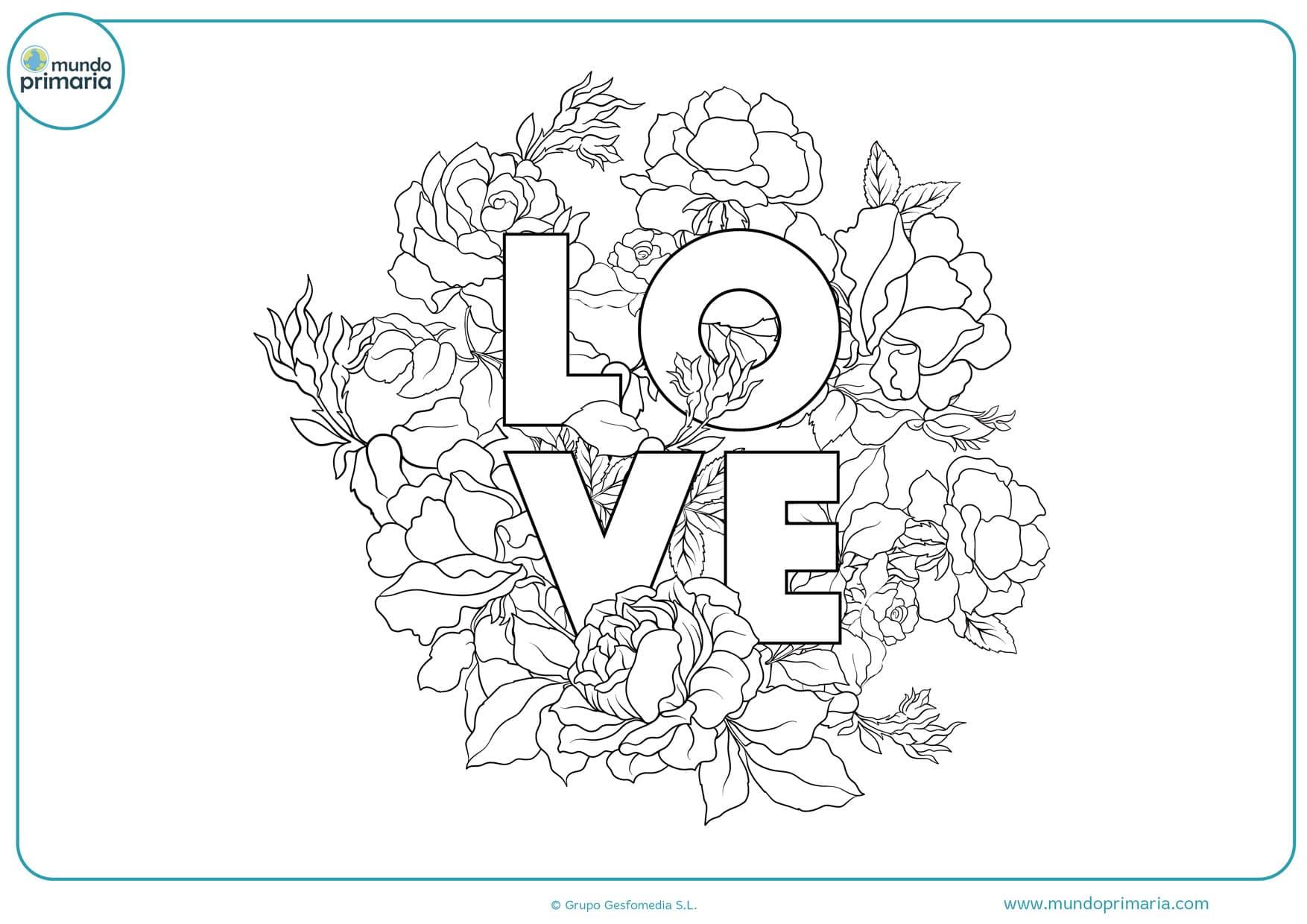 dibujos lindos de amor para colorear