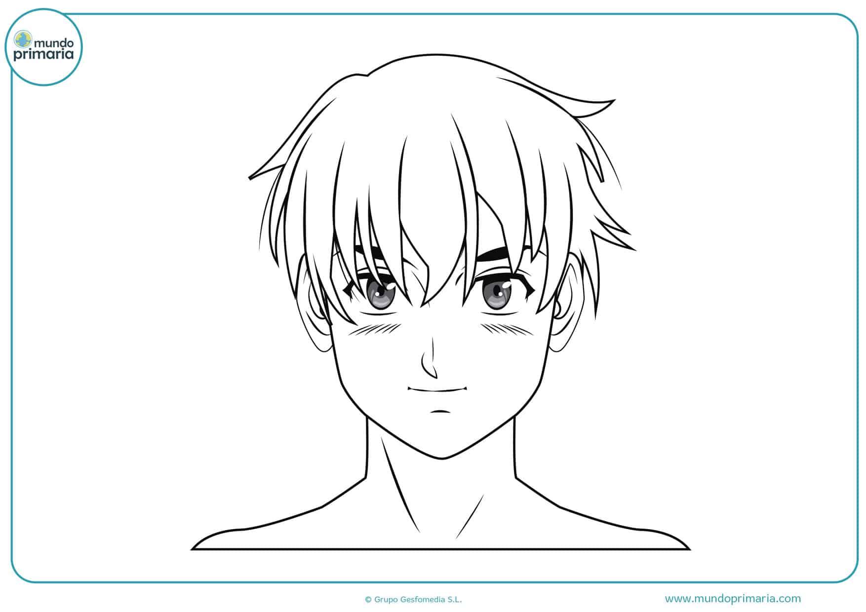 dibujos lindos de manga para pintar