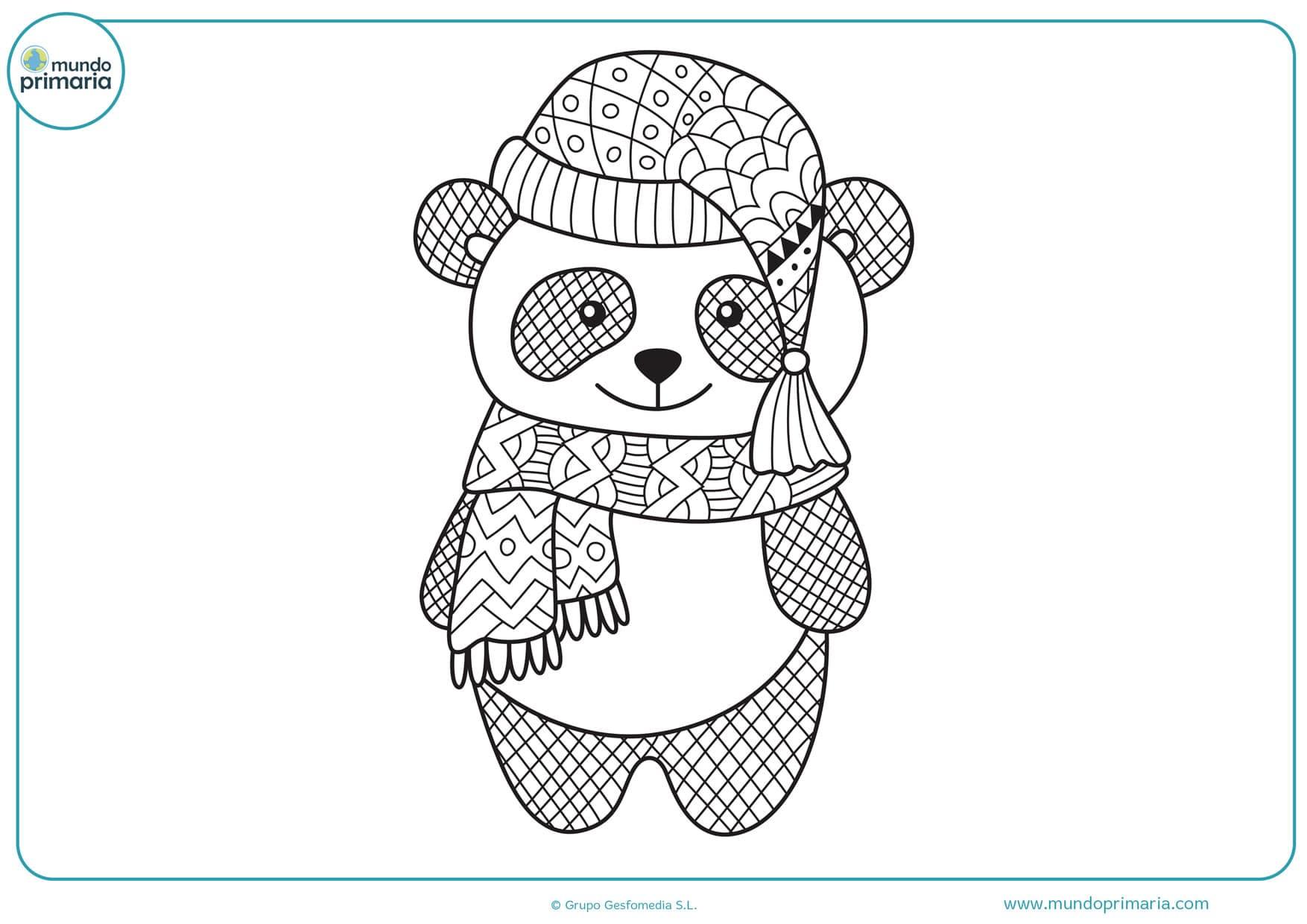 Dibujos De Pandas Para Colorear Adorables