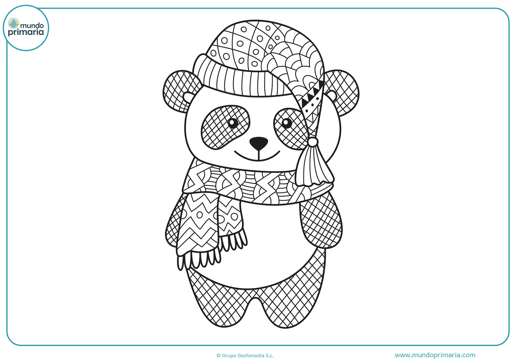 dibujos lindos para colorear de pandas
