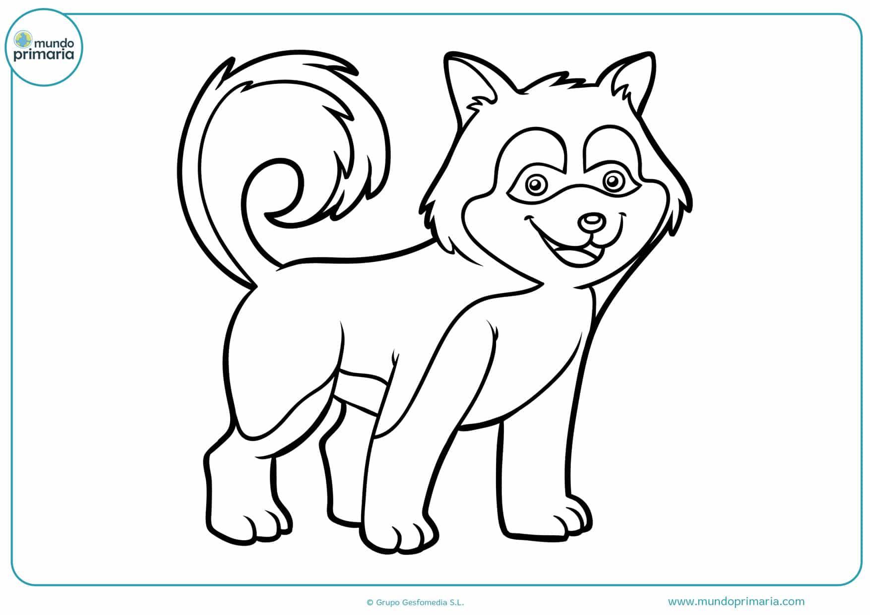 dibujos de lobos infantiles para colorear