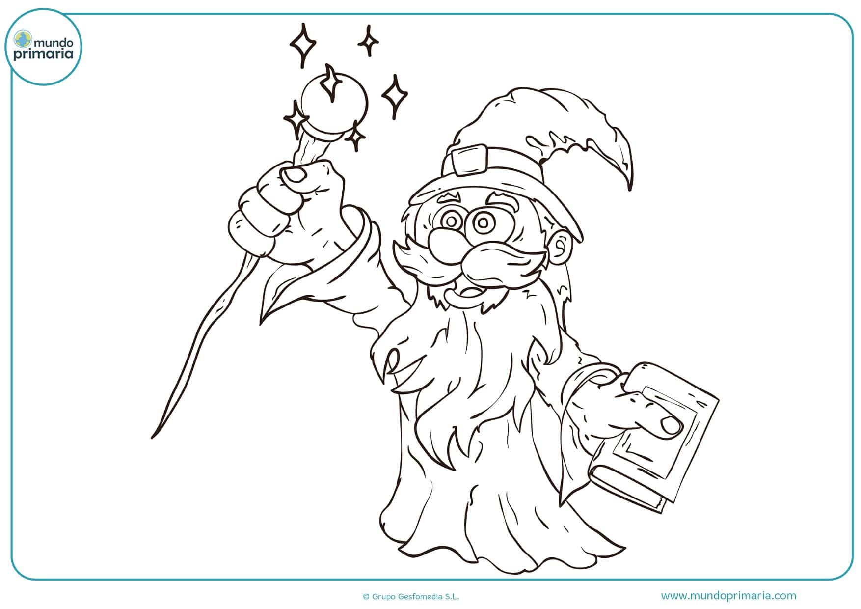 dibujos de magos para colorear