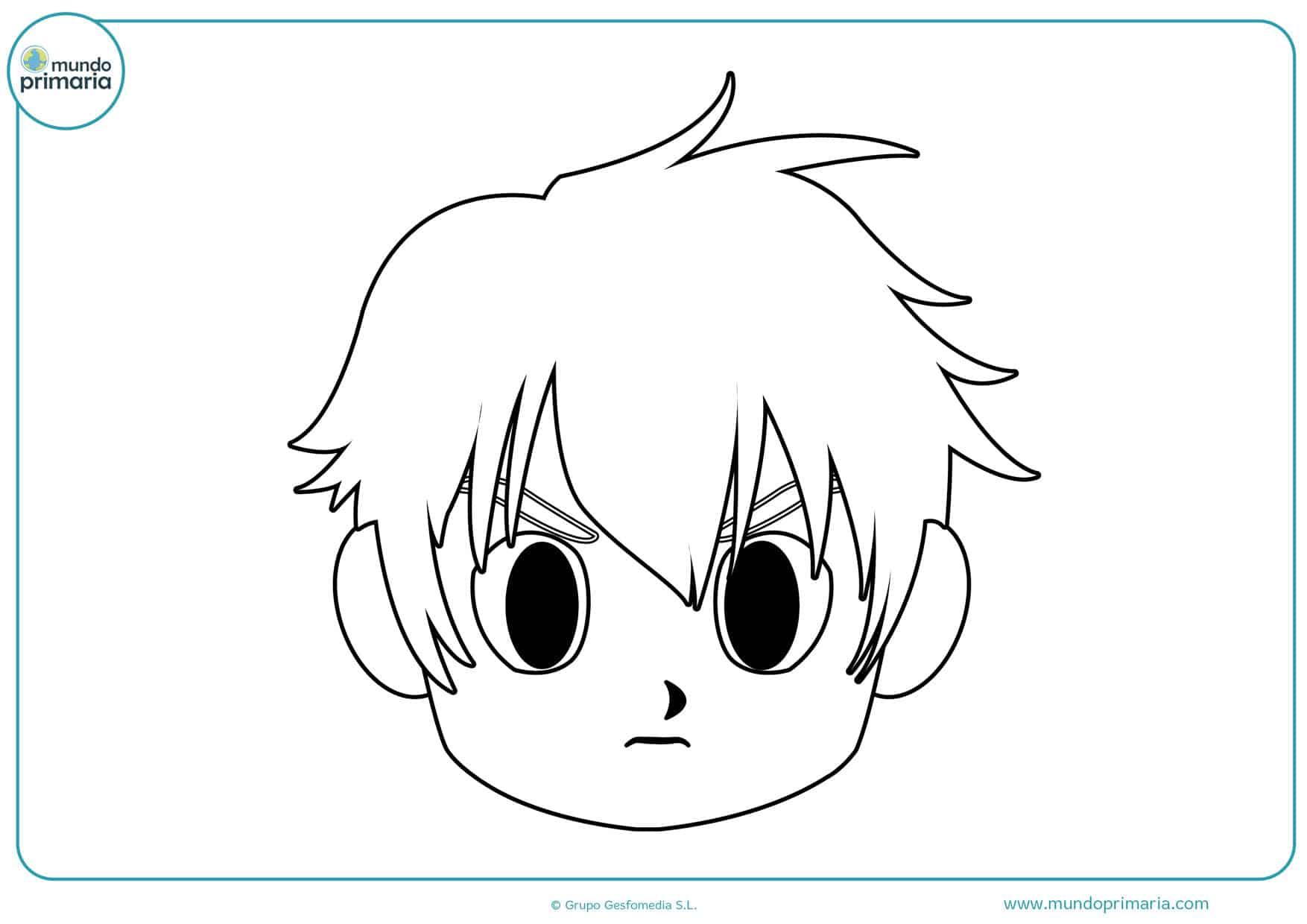 dibujos de manga de caras para colorear