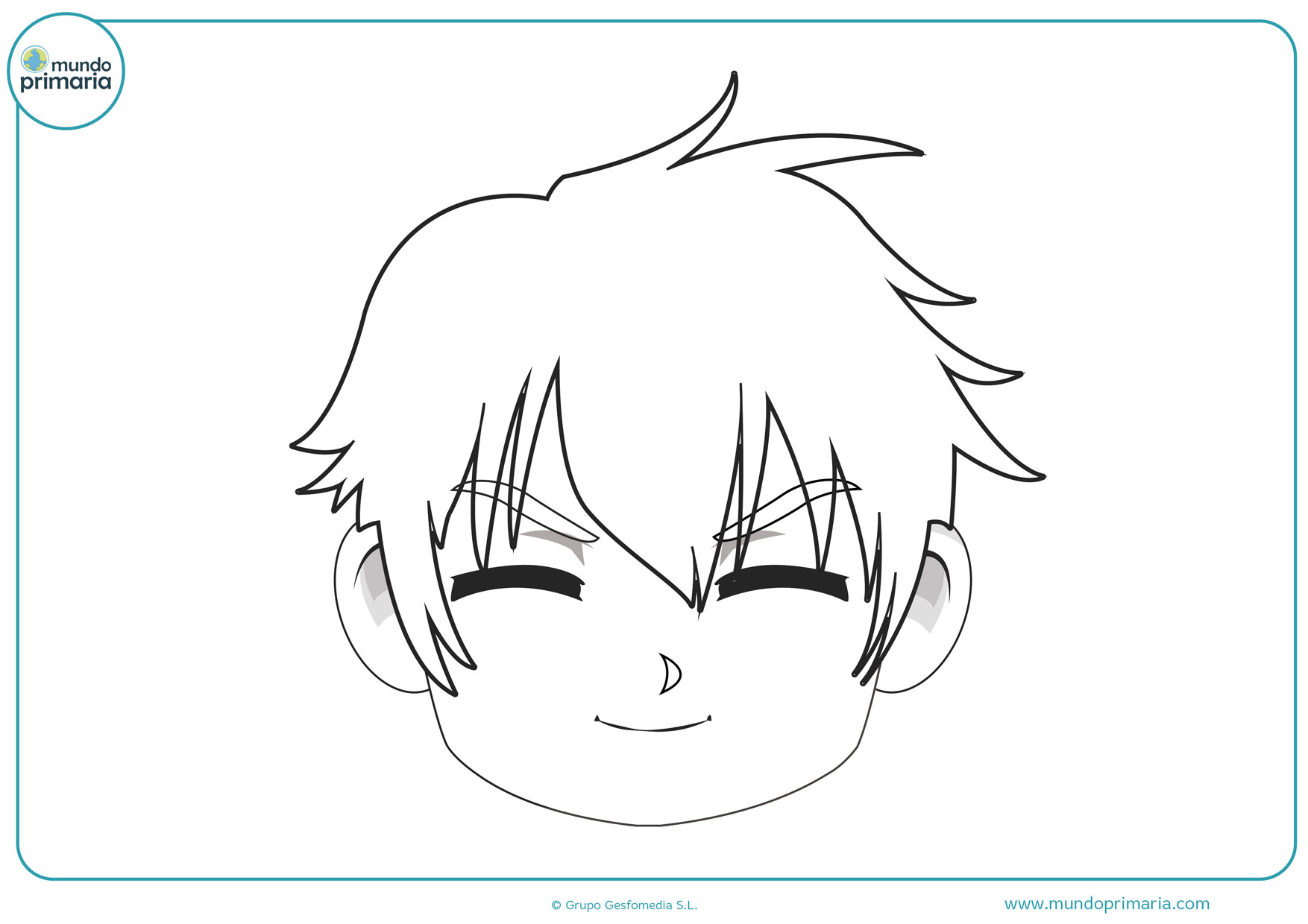 dibujos de manga divertidos para colorear