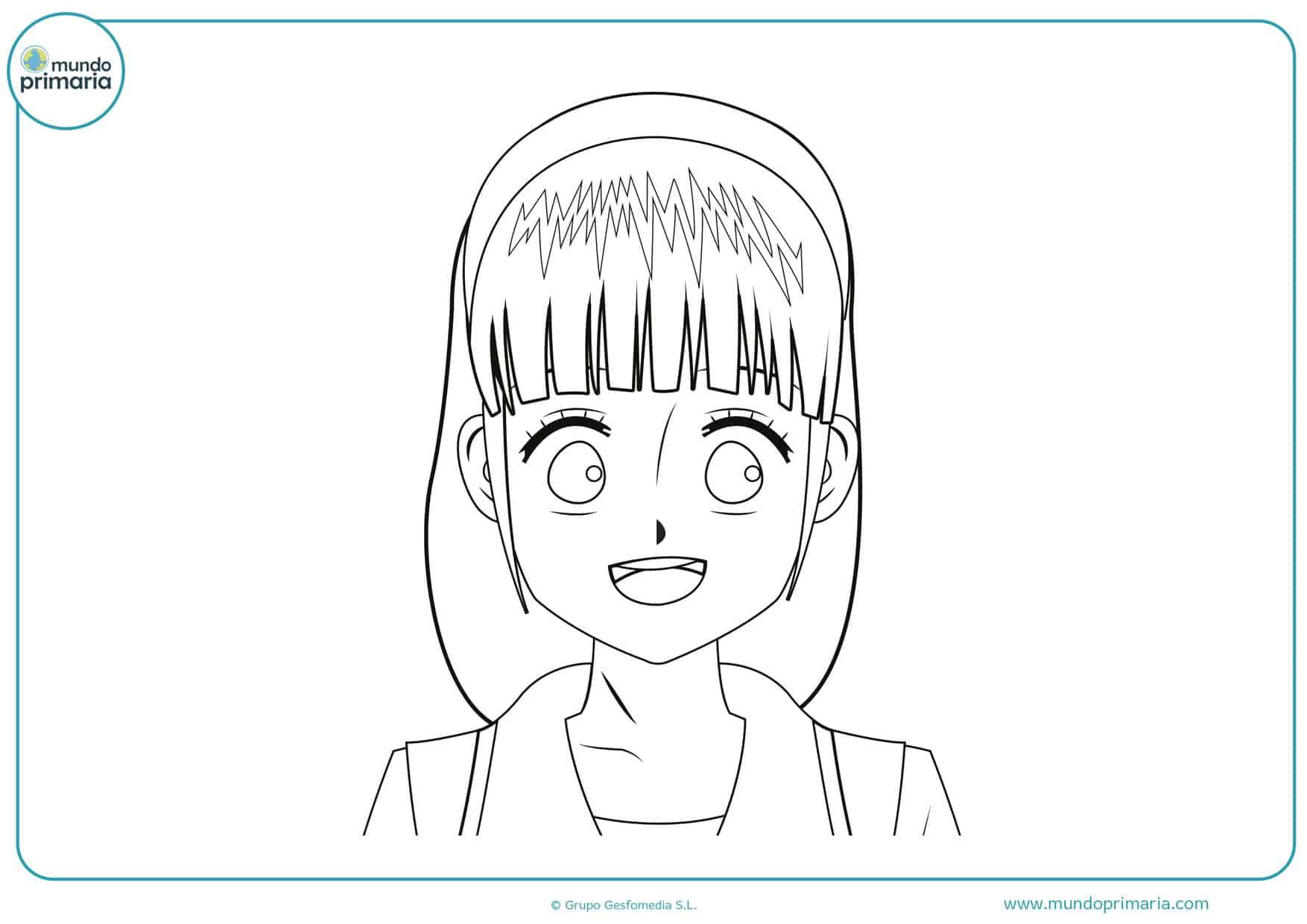 dibujos de manga familiar para pintar