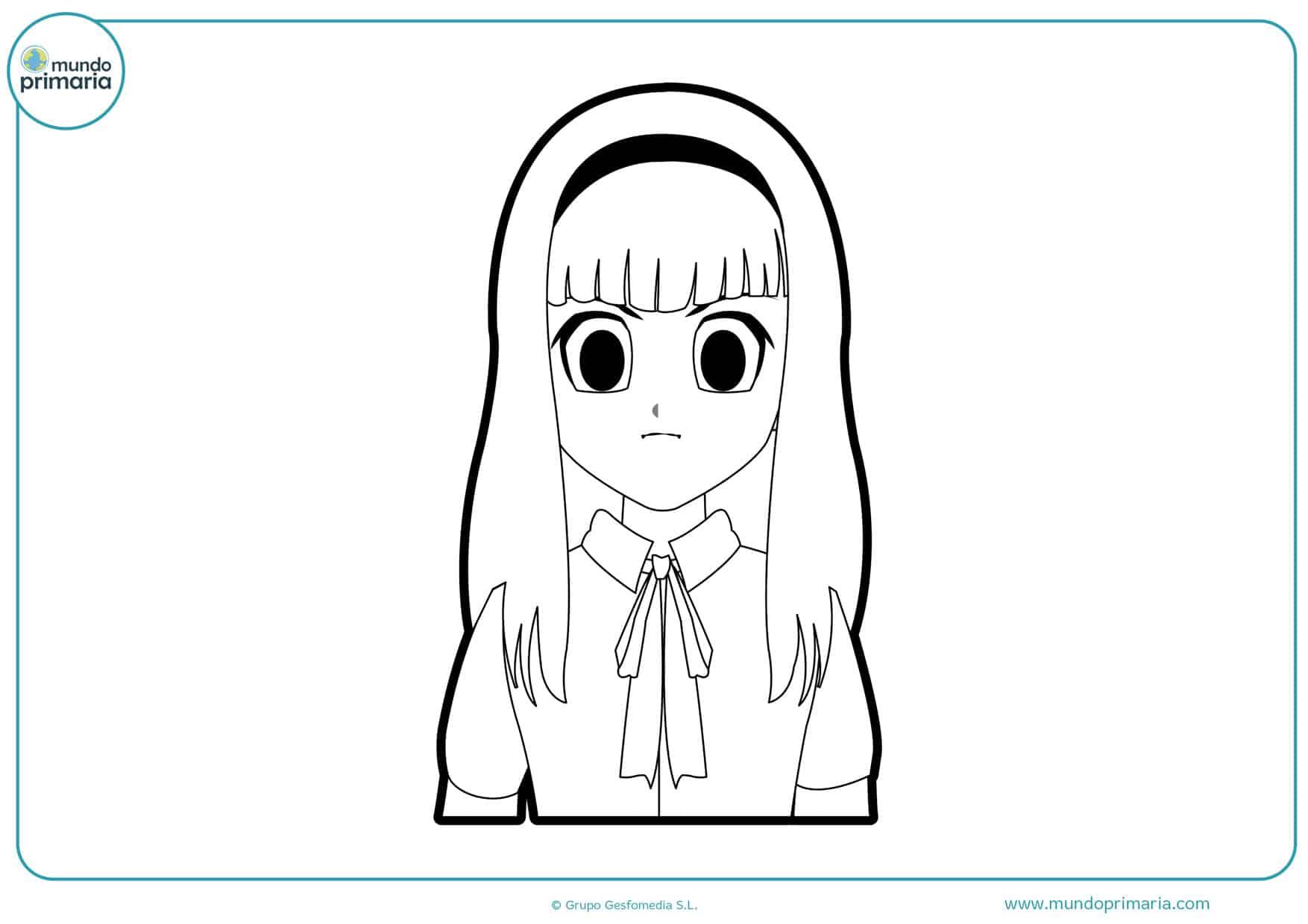 dibujos de manga model para imprimir