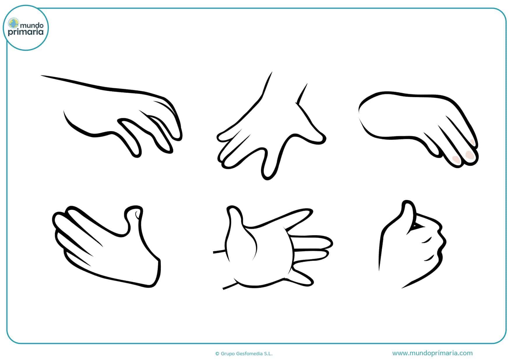 dibujos de manos abiertas para colorear