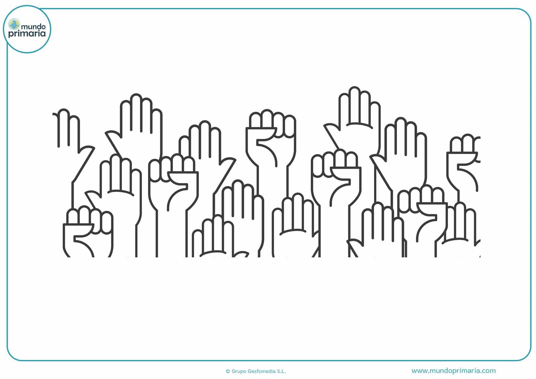 dibujos de manos aplaudiendo para colorear