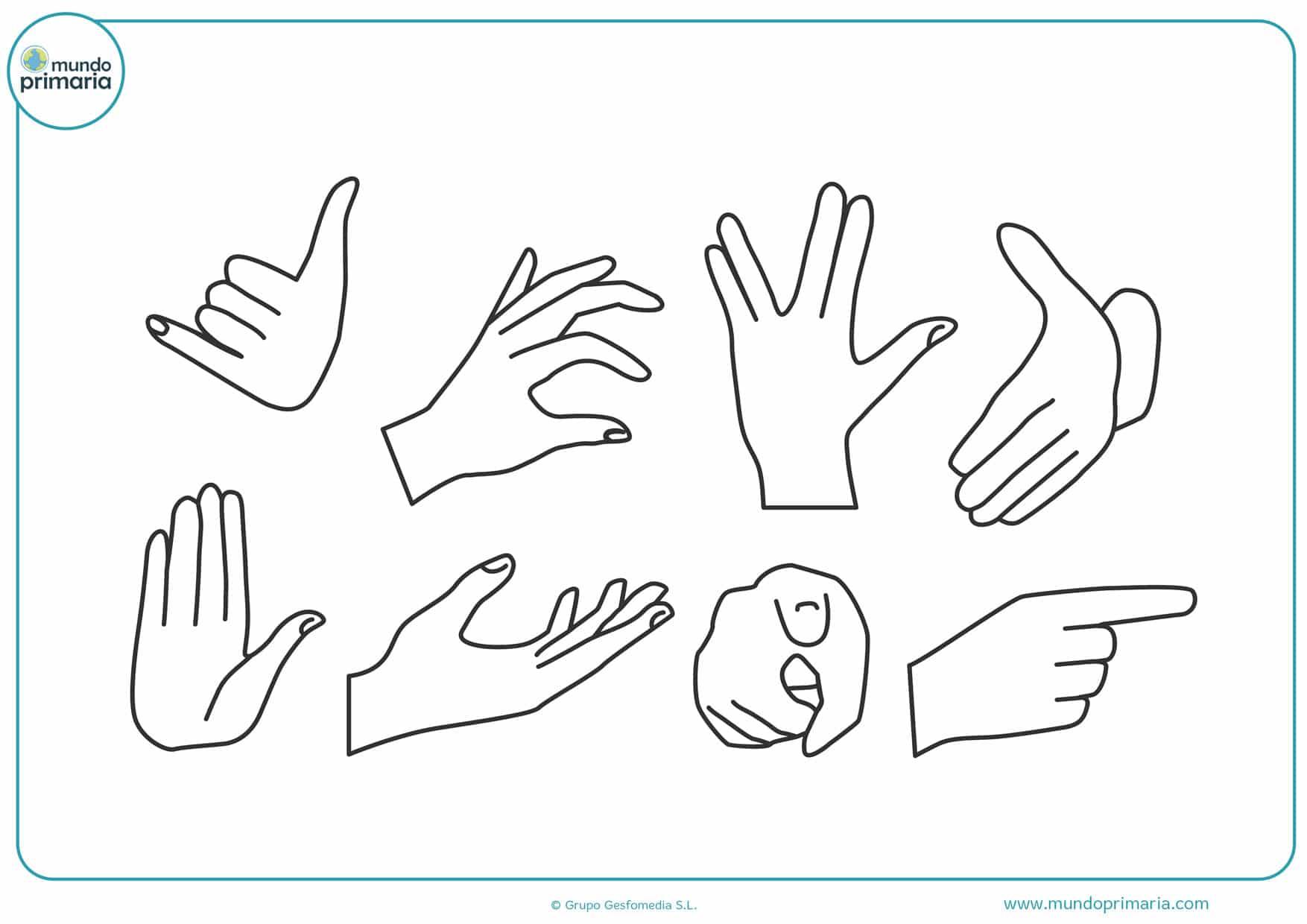 dibujos de manos entrelazadas para colorear