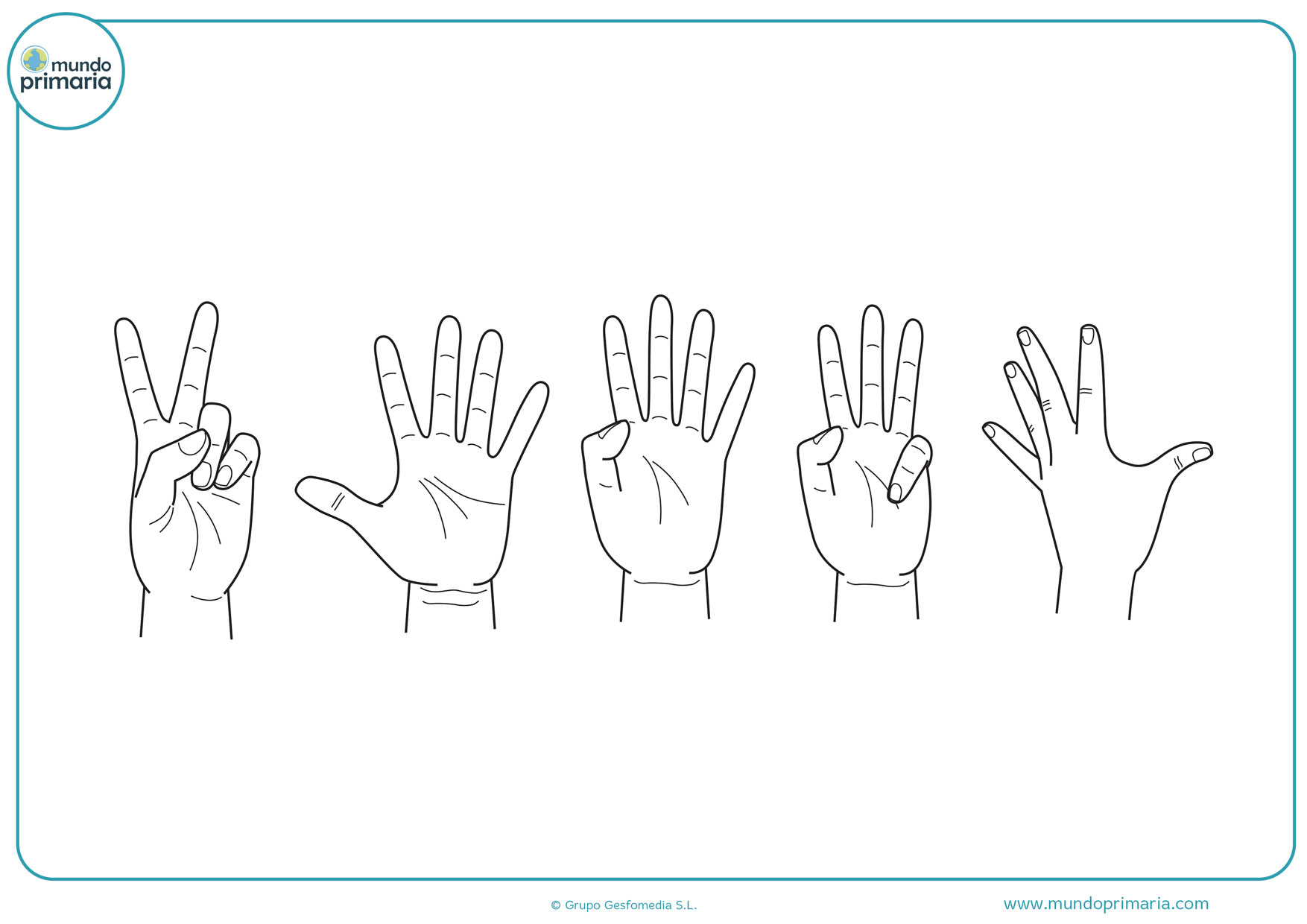 dibujos de manos para imprimir y colorear