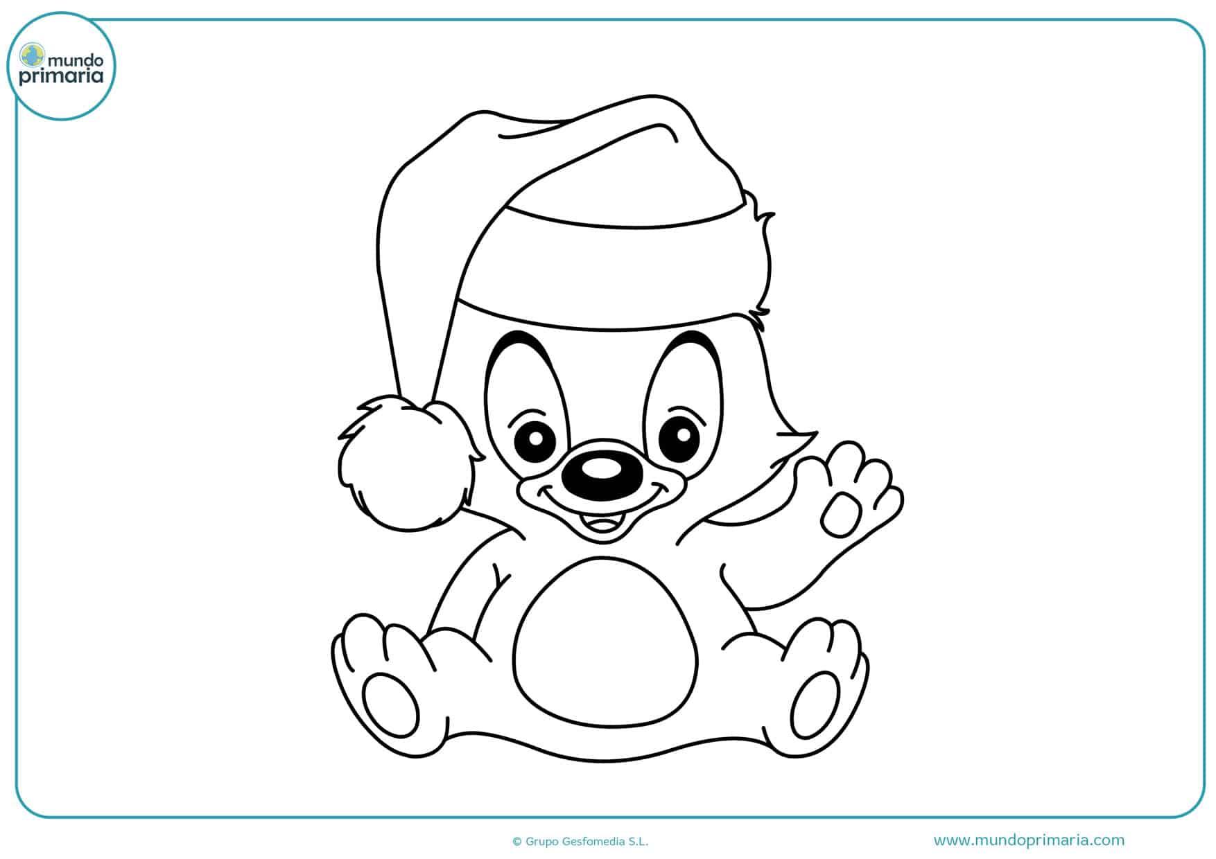 dibujos de mascotas de navidad para colorear