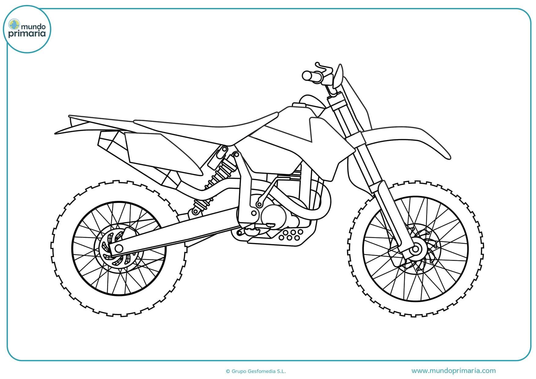 Dibujos De Motos Para Colorear 【imprimir Y Pintar】