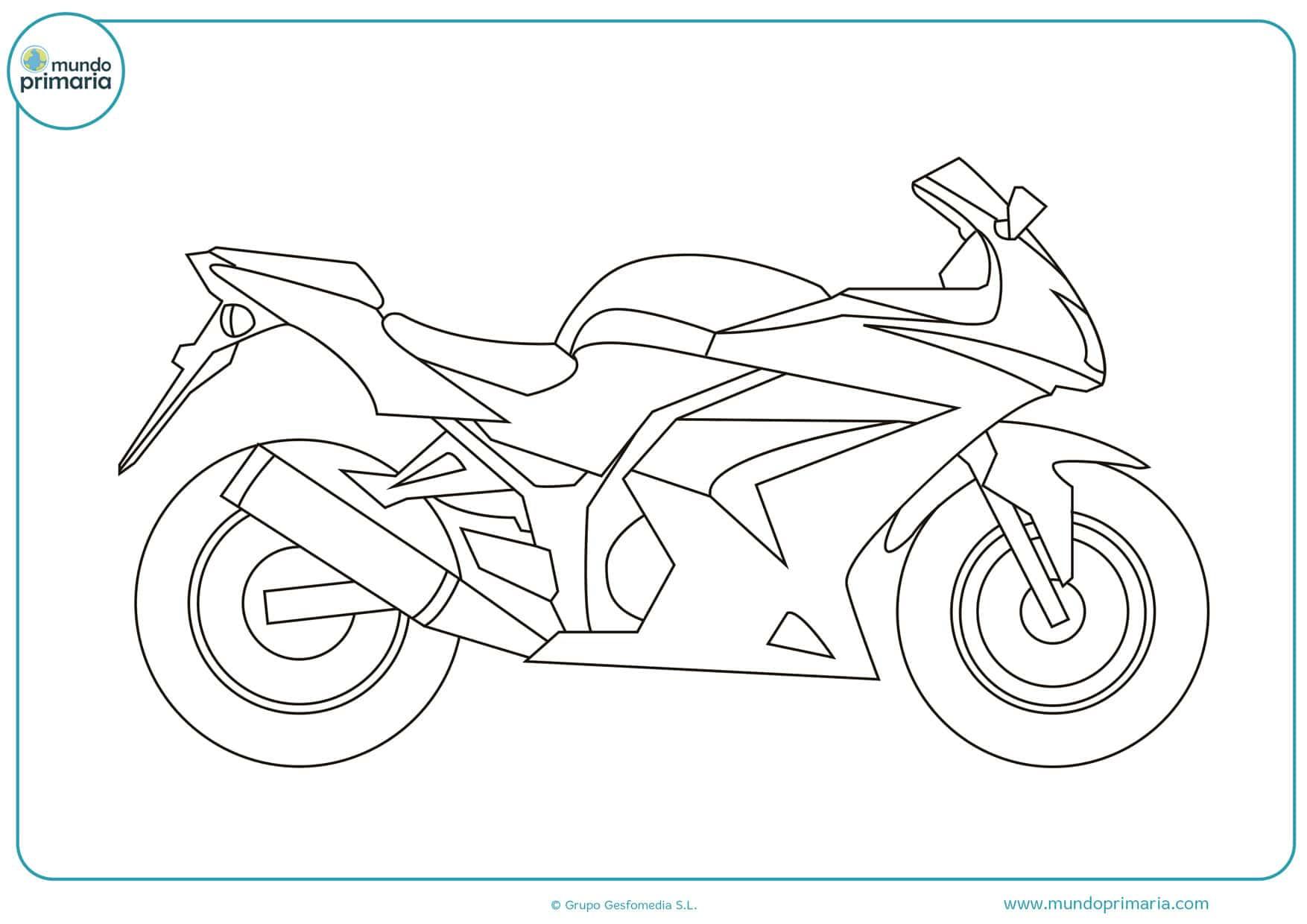 Dibujos De Motos Para Colorear Imprimir Y Pintar