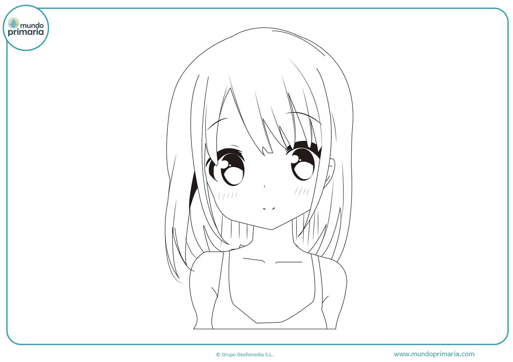 dibujos de mujeres manga para colorear