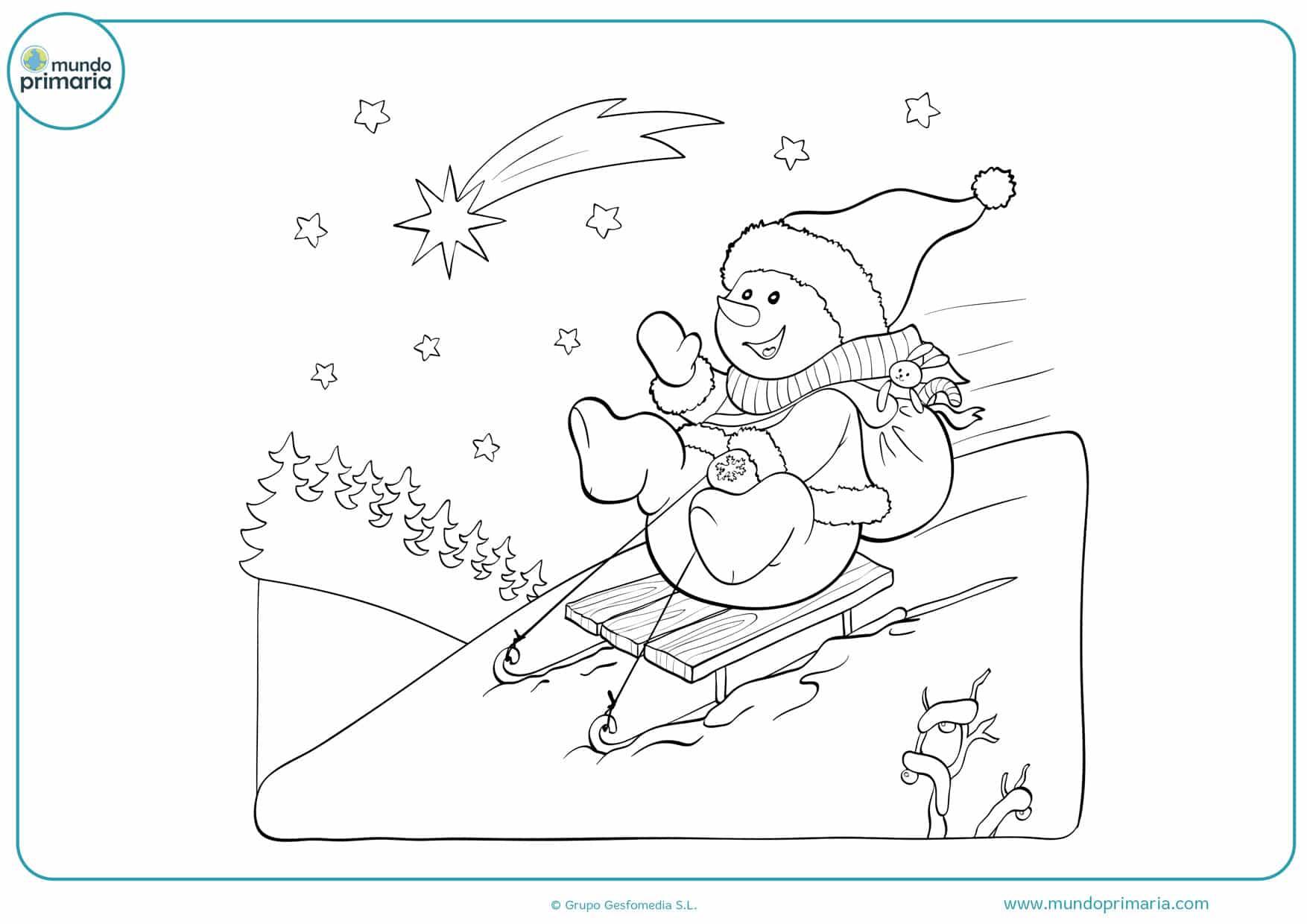 dibujos de muñecos navidad para colorear