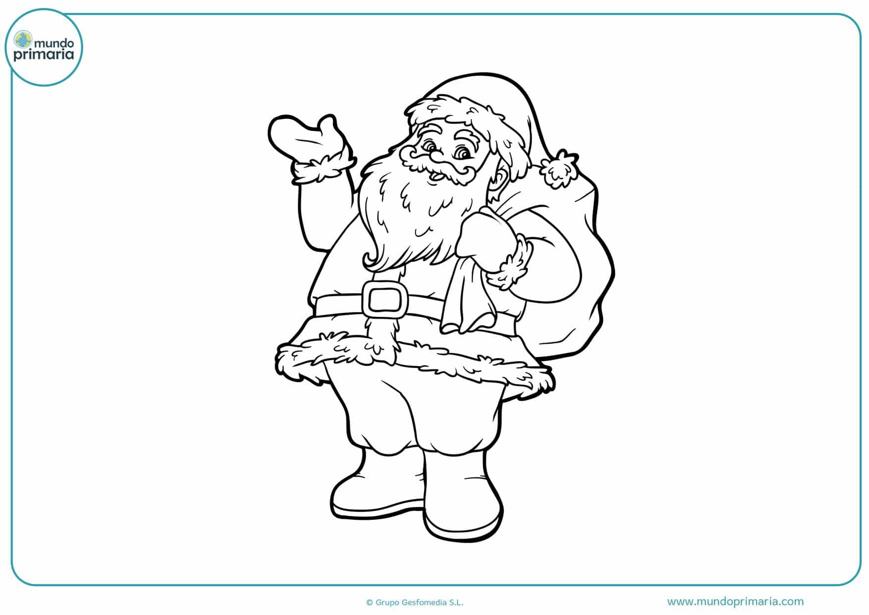 dibujos de navidad para colorear e imprimir de papa noel