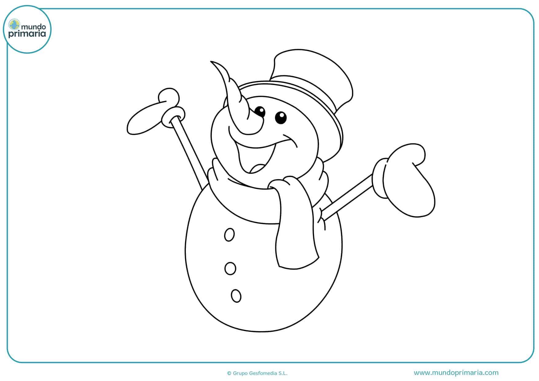 dibujos de navidad para colorear de muñecos de nieve