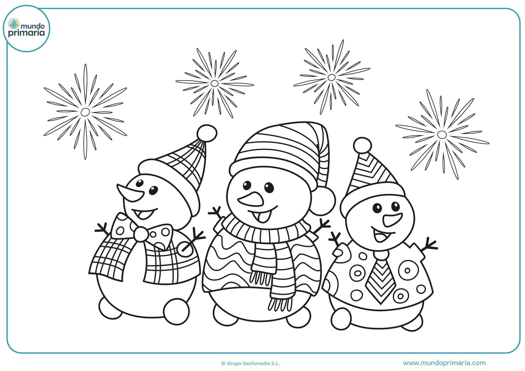 dibujos de navidad para colorear difíciles