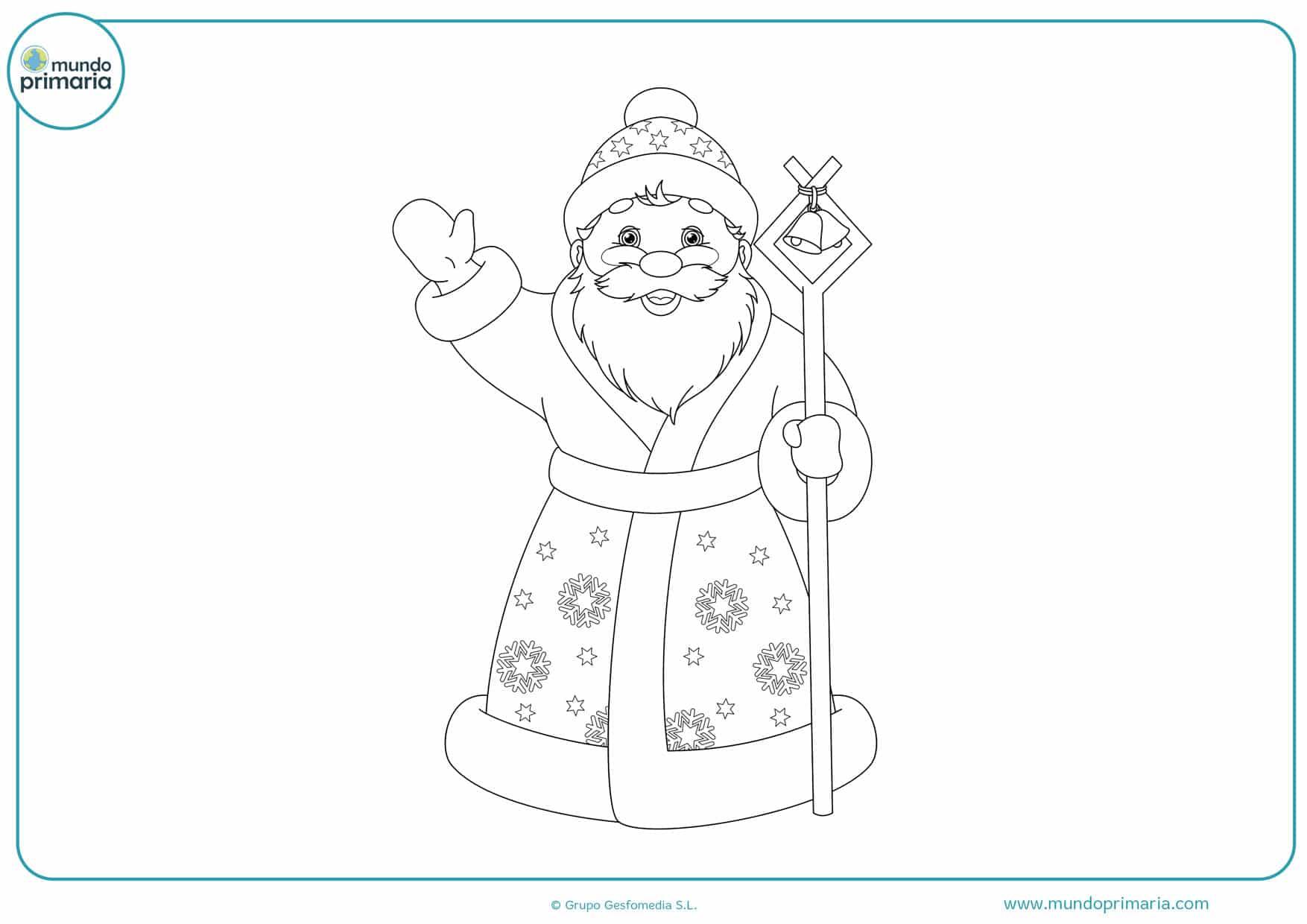dibujos de navidad para colorear fáciles