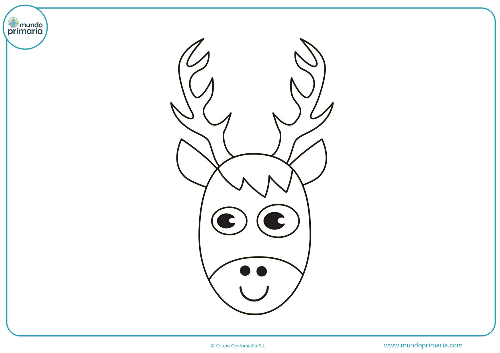 dibujos de navidad para colorear de renos