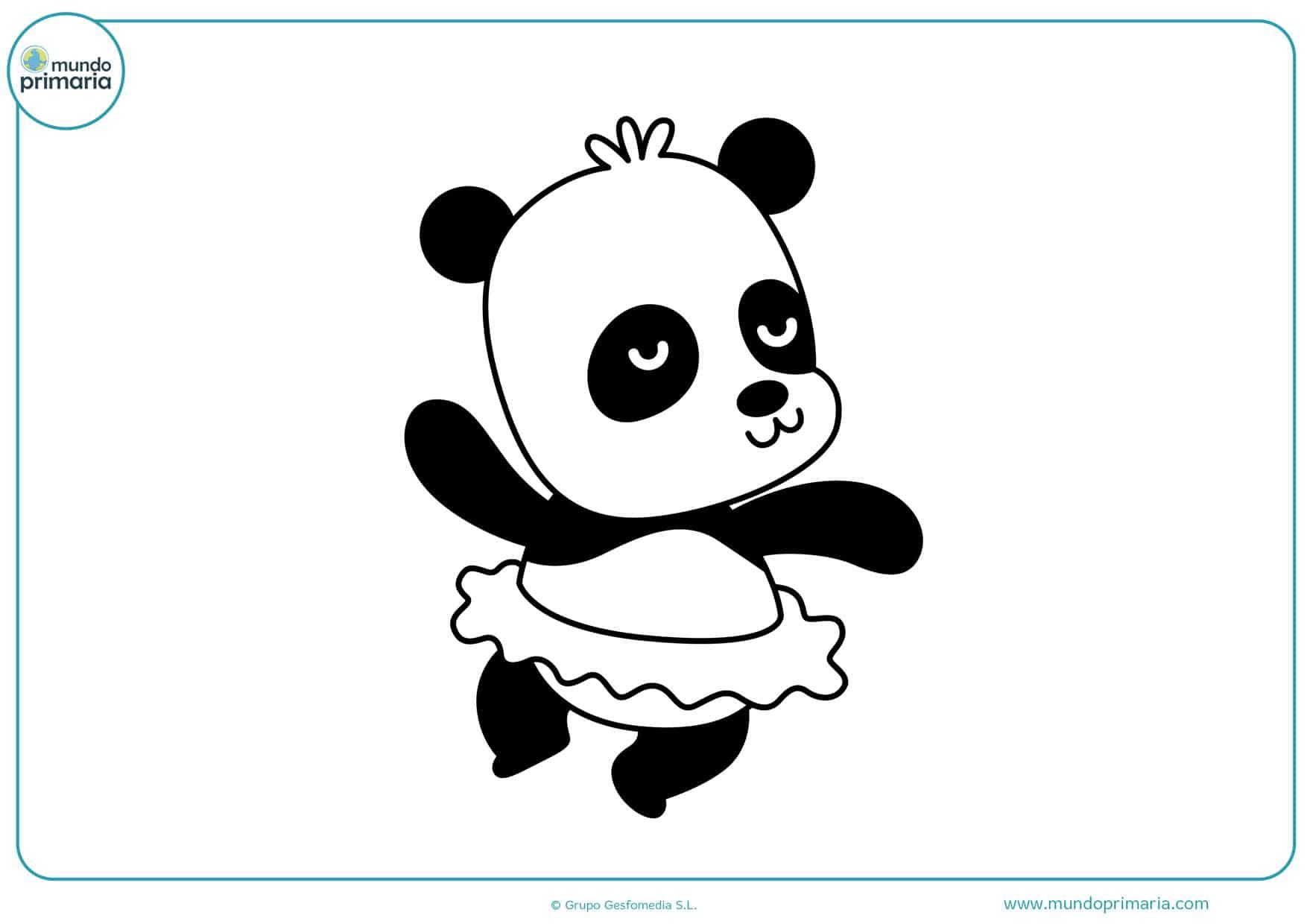 dibujos de osos pandas bebes para colorear