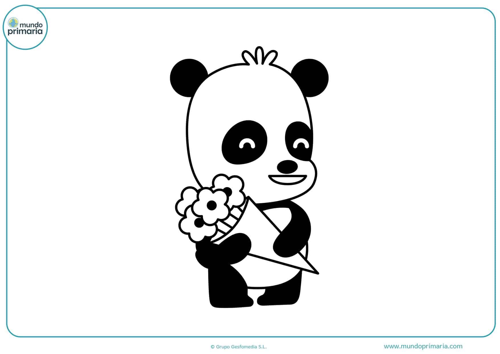 dibujos de osos pandas para colorear e imprimir