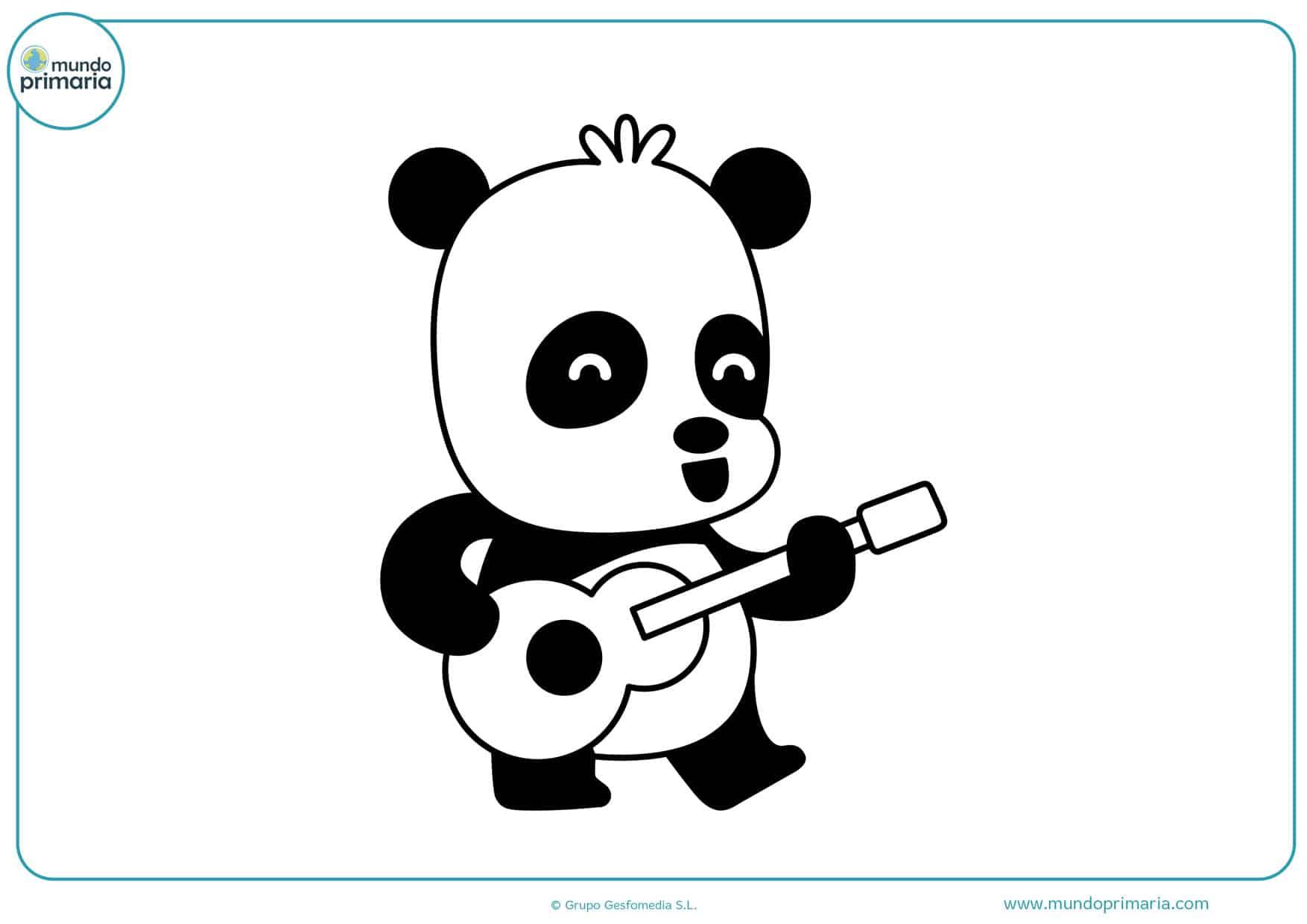 dibujos de osos pandas para colorear