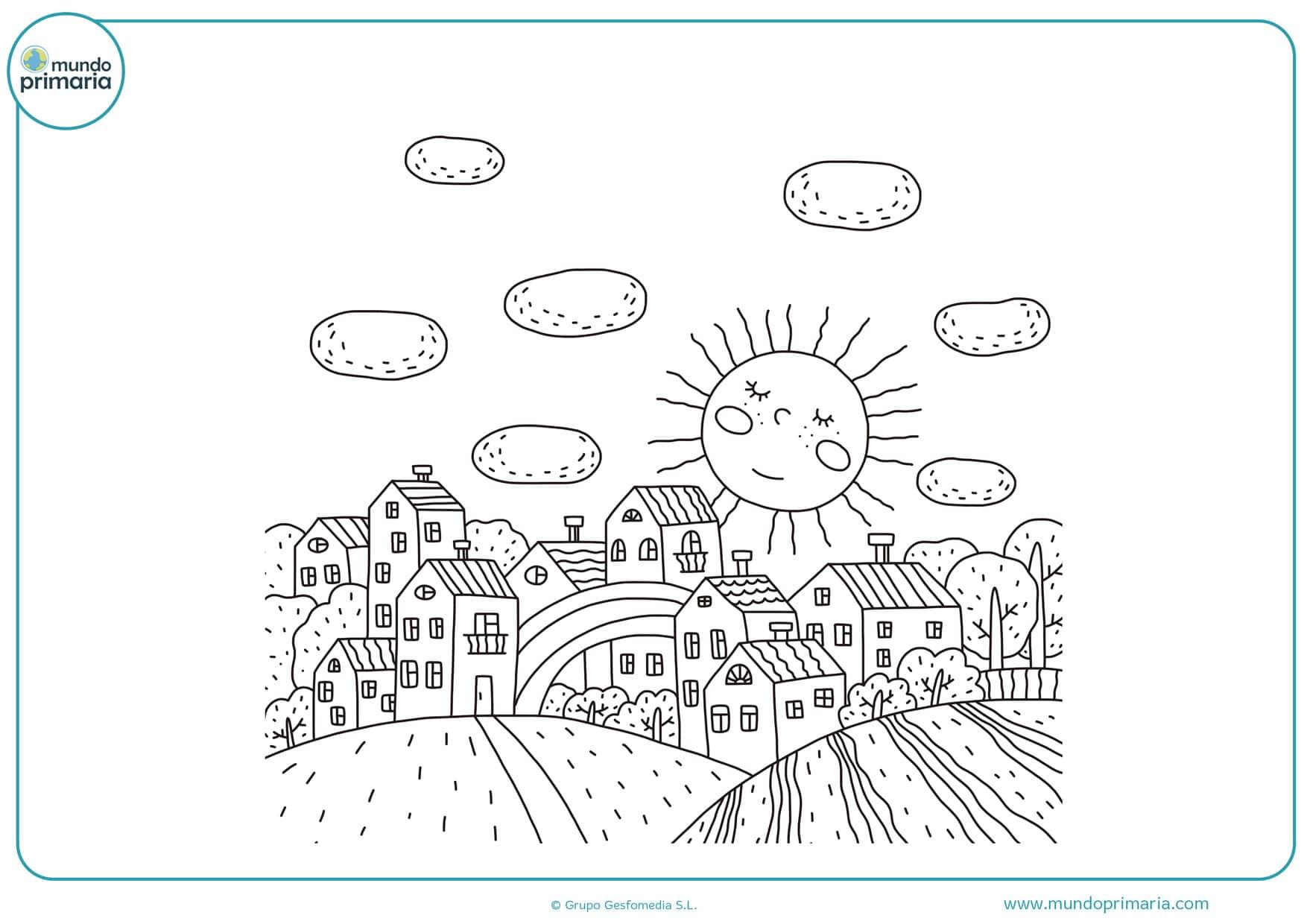 dibujos de paisajes para colorear e imprimir gratis