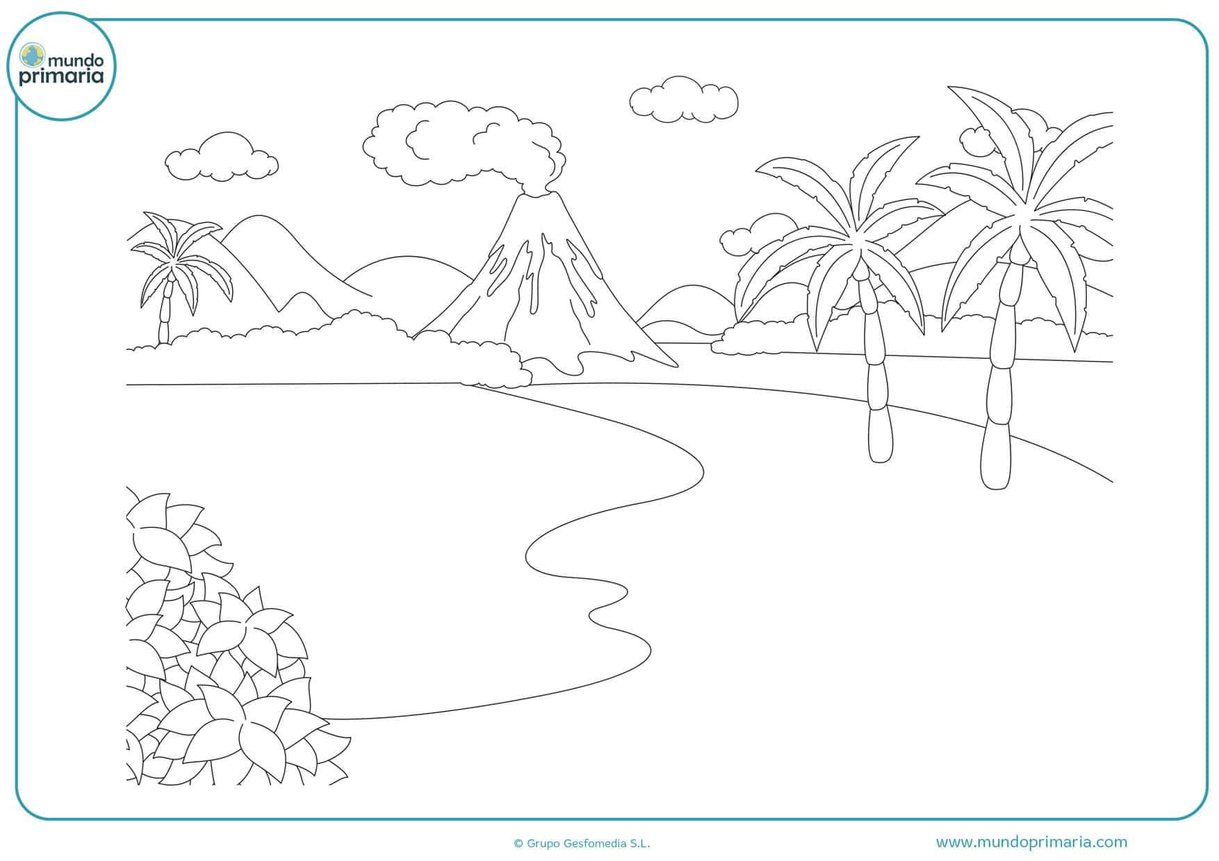 Dibujos de Paisajes para Colorear y Pintar de forma fácil
