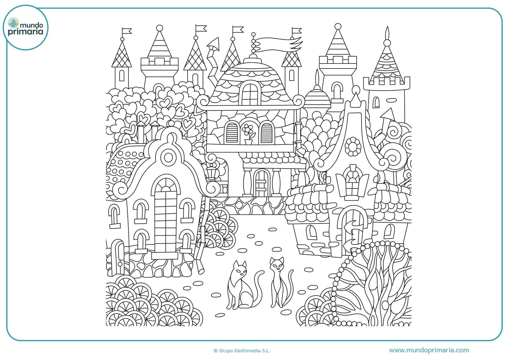 dibujos de paisajes sencillos para colorear
