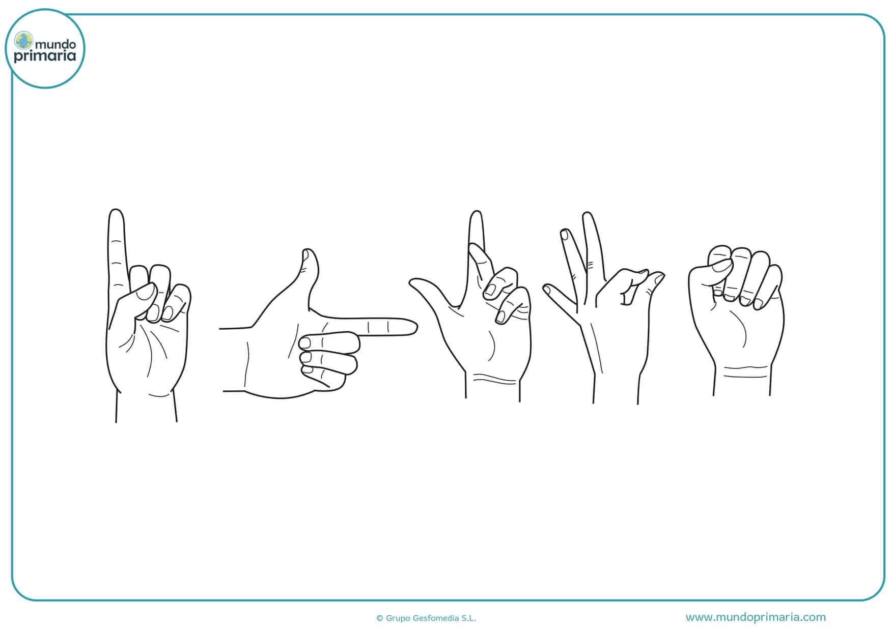 dibujos de palmas de manos para colorear