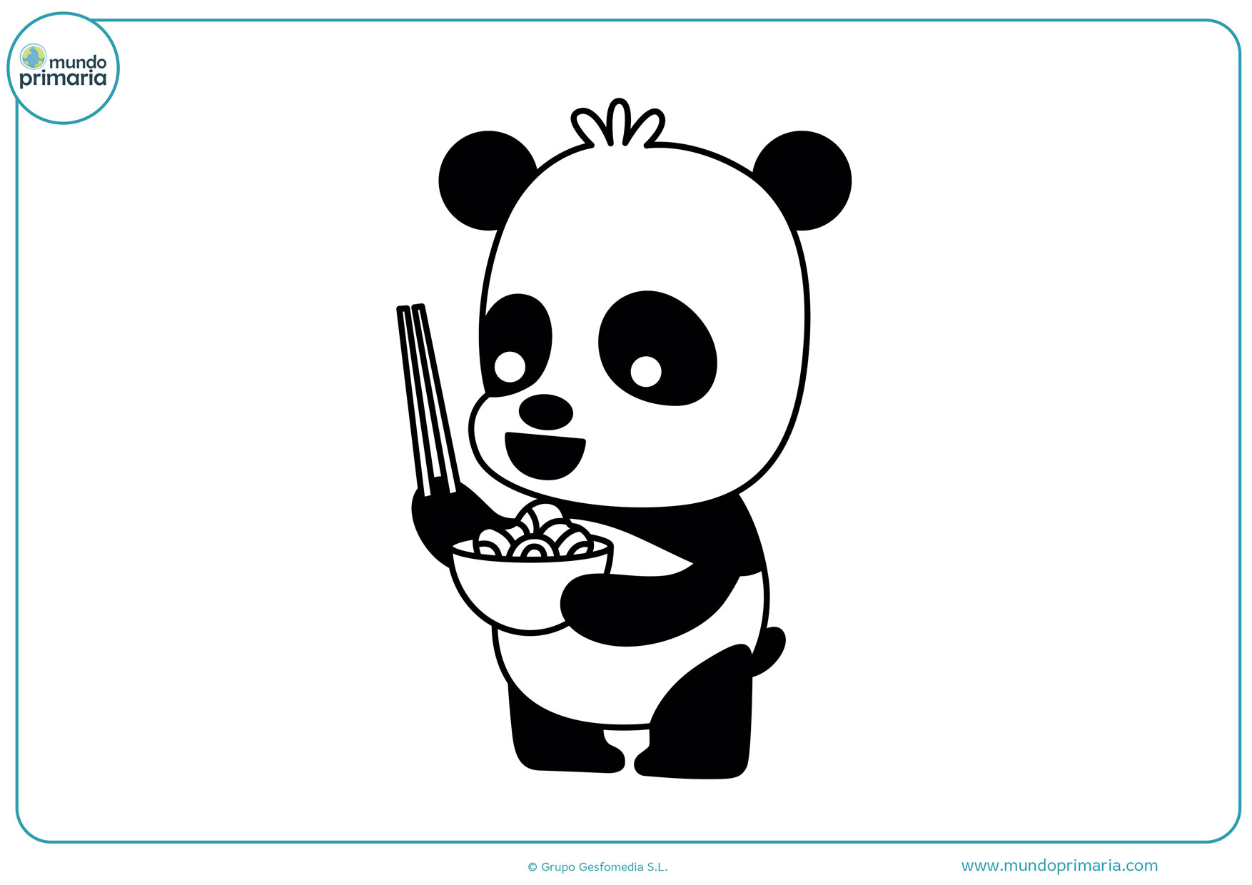 dibujos de pandas bebes para colorear
