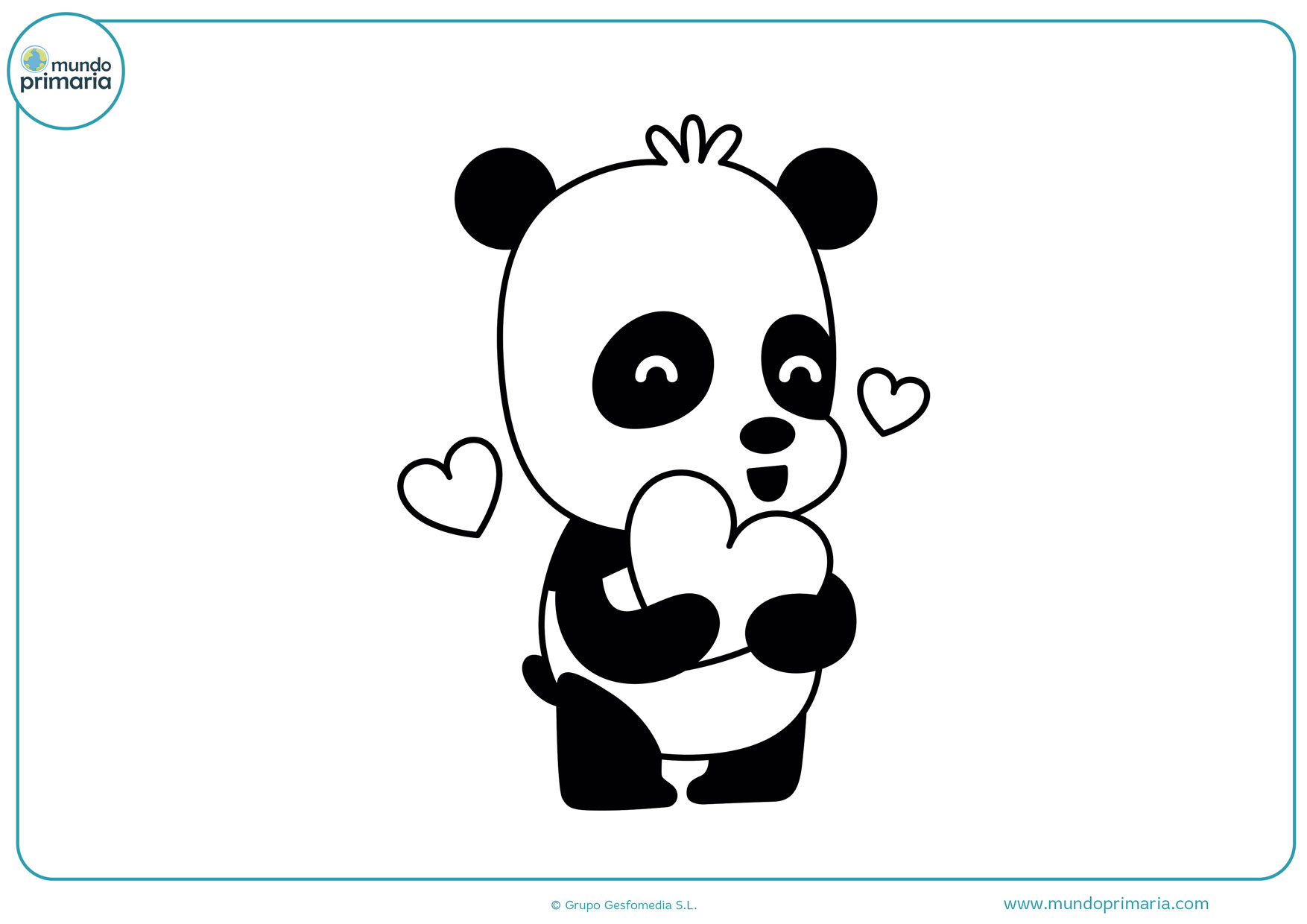 dibujos de pandas bebes tiernos para colorear