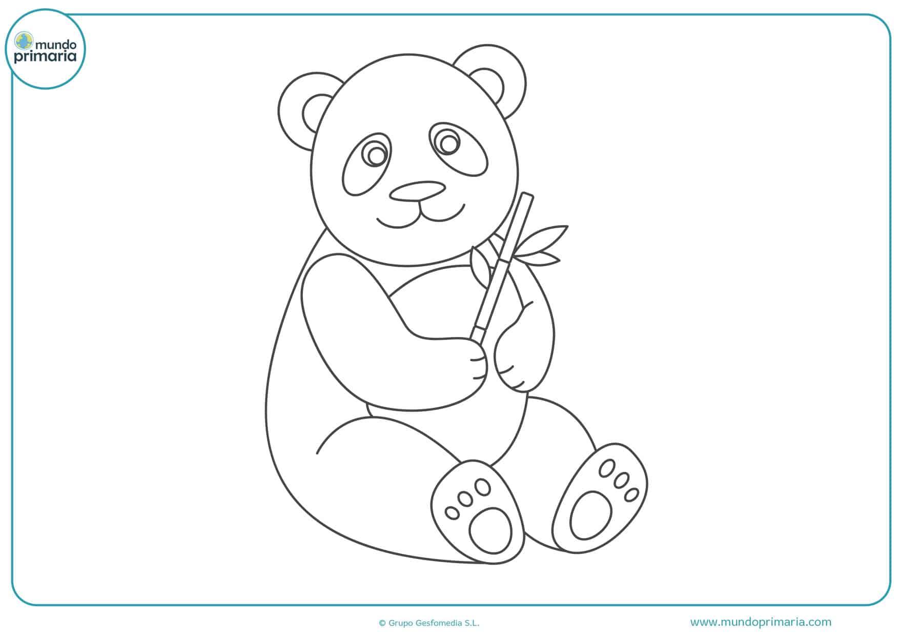 dibujos de pandas para colorear
