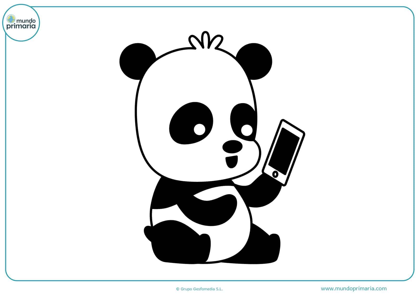 dibujos de pandas tiernos para colorear