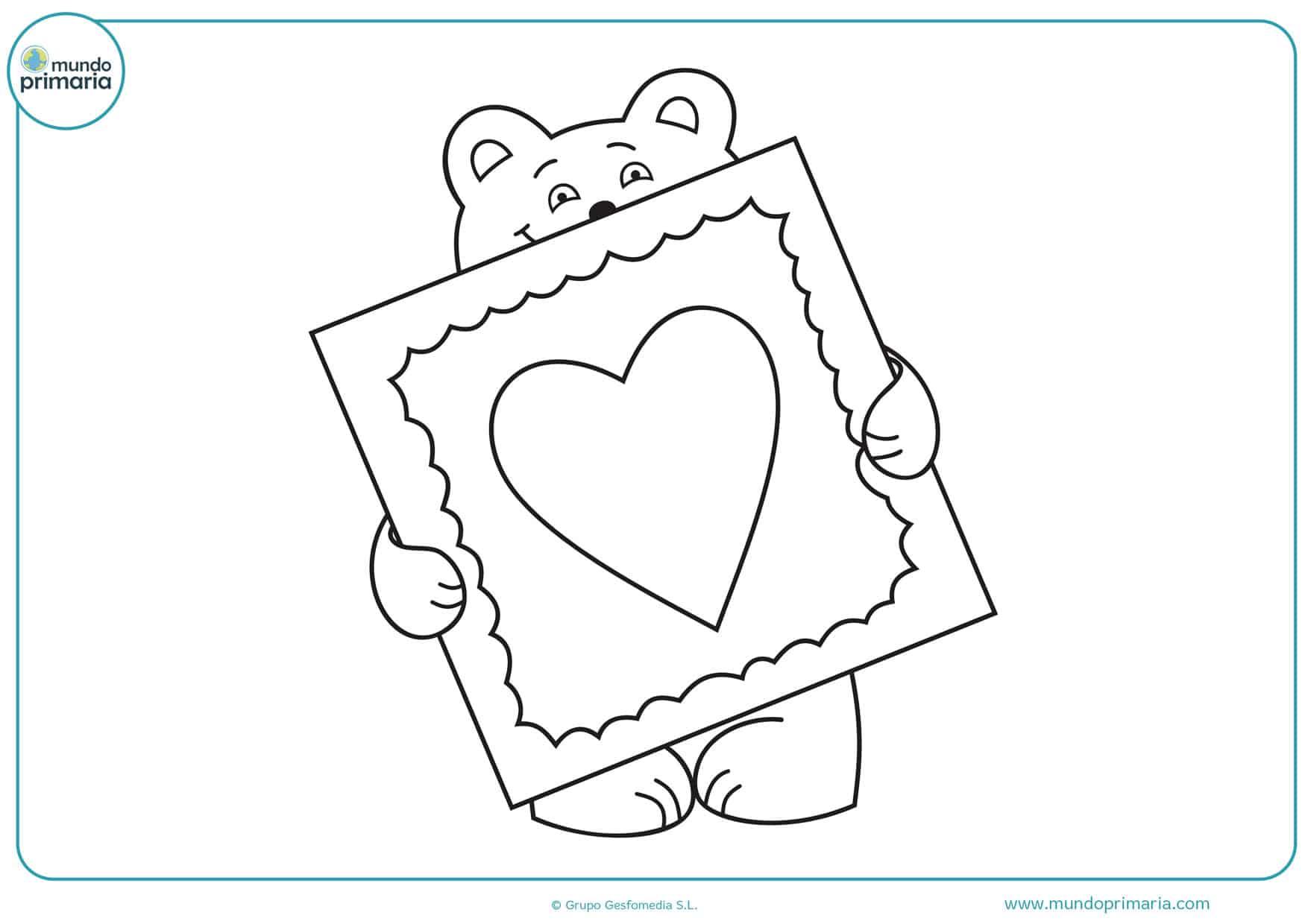 dibujos para colorear de amor corazones