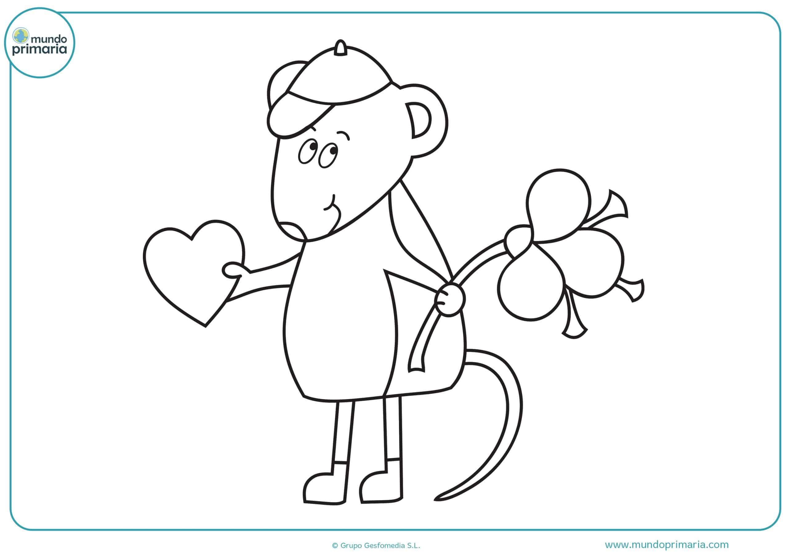 dibujos para colorear de amor tiernos