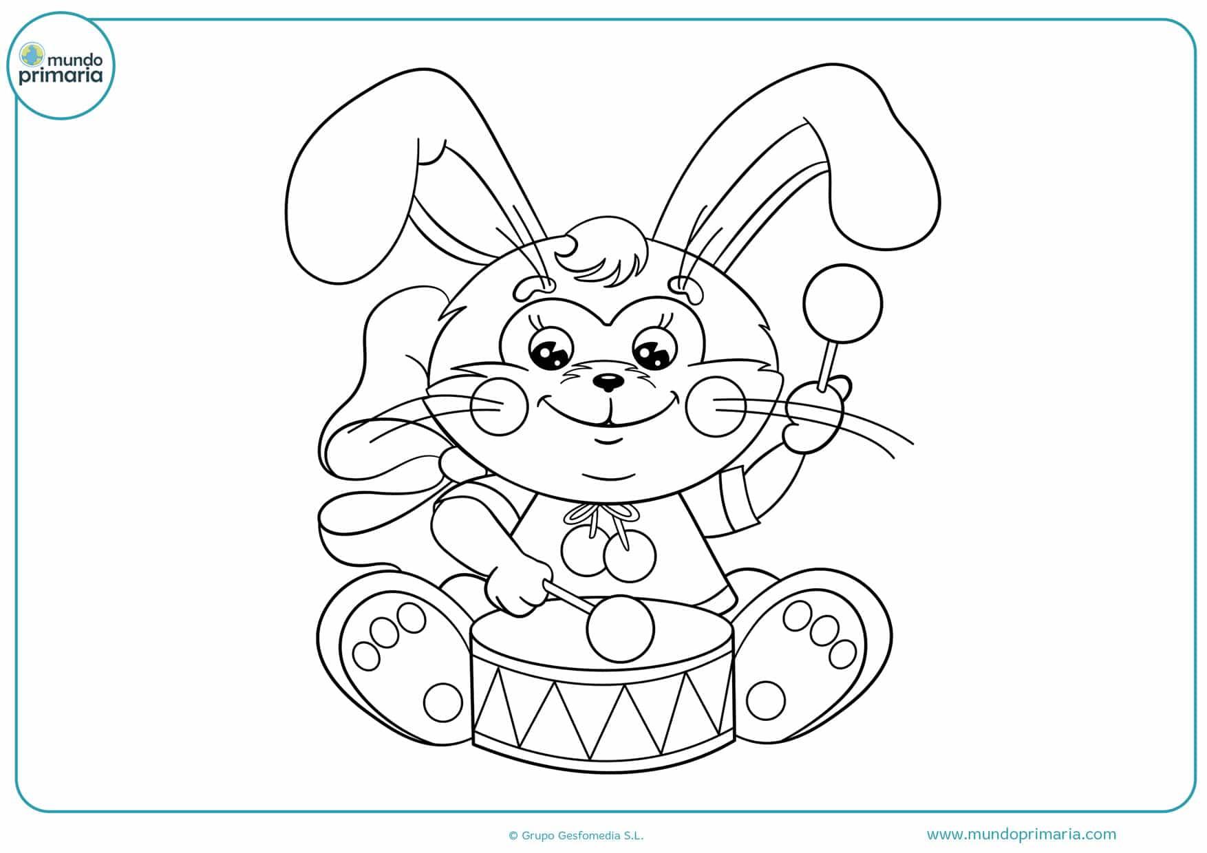 dibujos para colorear de animales conejos