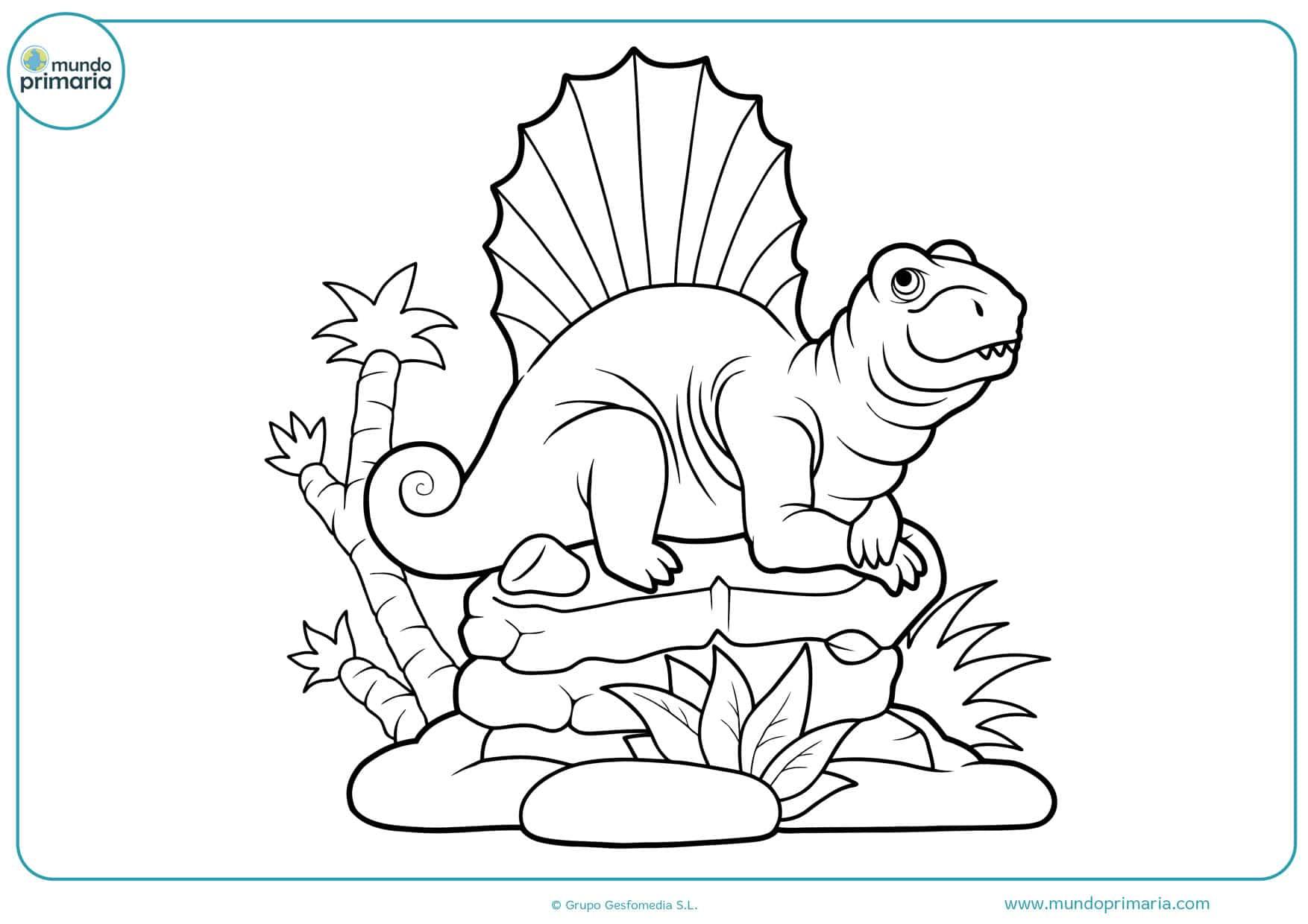 dibujos para colorear de animales dinosaurios